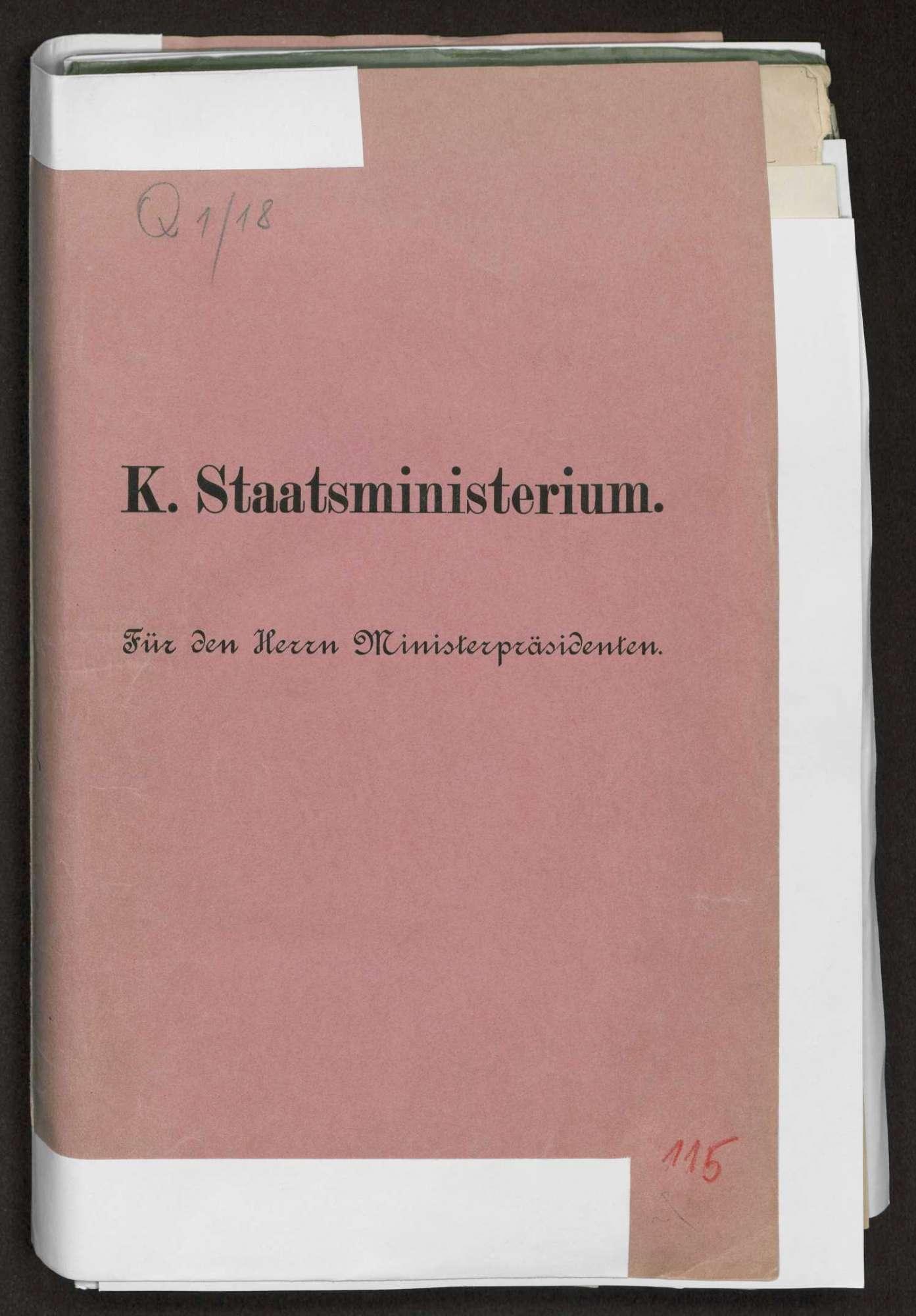 Berichte des württembergischen Gesandten in Berlin v. Varnbüler an Weizsäcker, Bild 1
