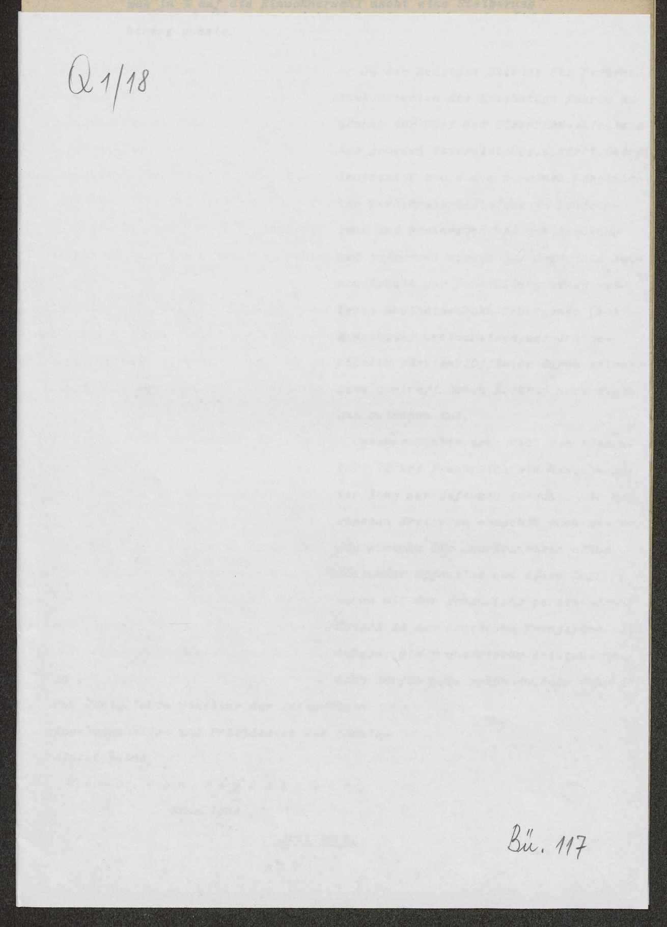 Berichte des württembergischen Militärbevollmächtigten in Berlin (v. Dorrer, v. Graevenitz) an Weizsäcker, Bild 1