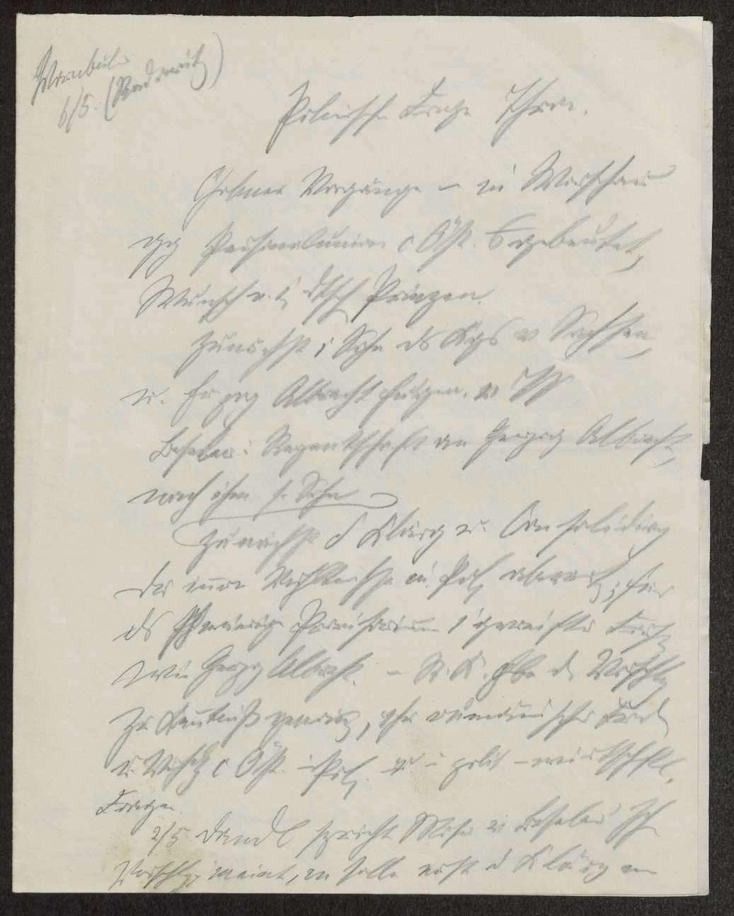 Schreiben von Herzog Albrecht und Herzog Philipp von Württemberg und Notizen betr. Familienangelegenheiten des herzoglichen Hauses, Bild 3