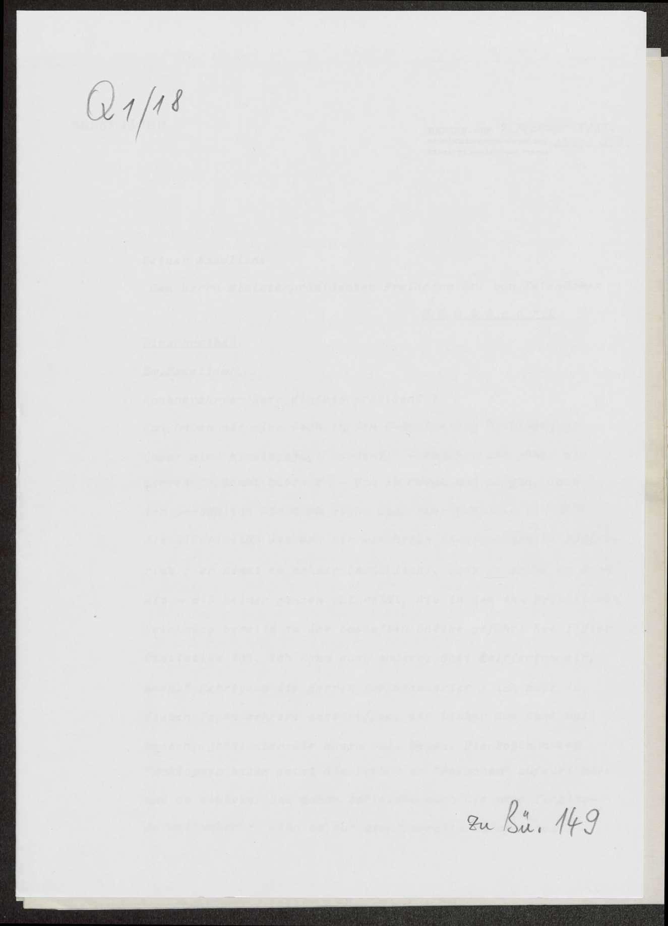 Berichte von Ernst Jäckh, Zentralstelle für Auslandsdienst, Berlin, an Weizsäcker über die politische und militärische Lage, insbesondere im Vorderen Orient, auf dem Balkan und im Osten, Bild 1