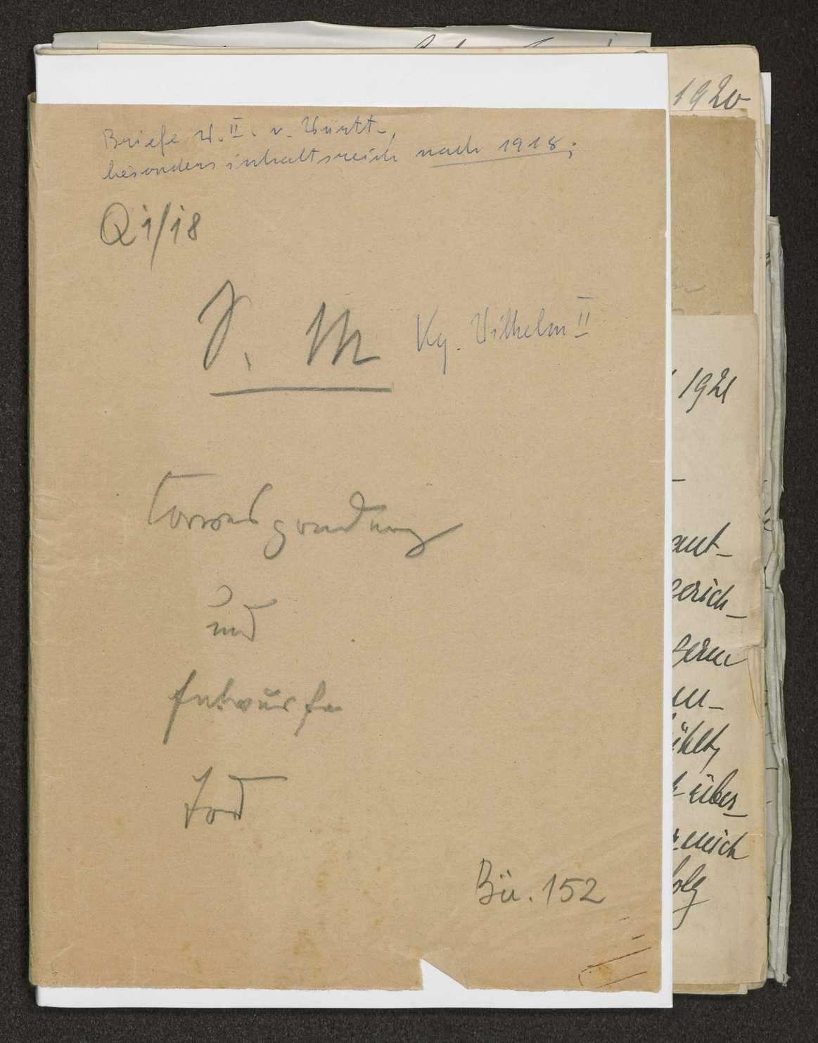Korrespondenz Weizsäcker mit König Wilhelms II., Bild 1