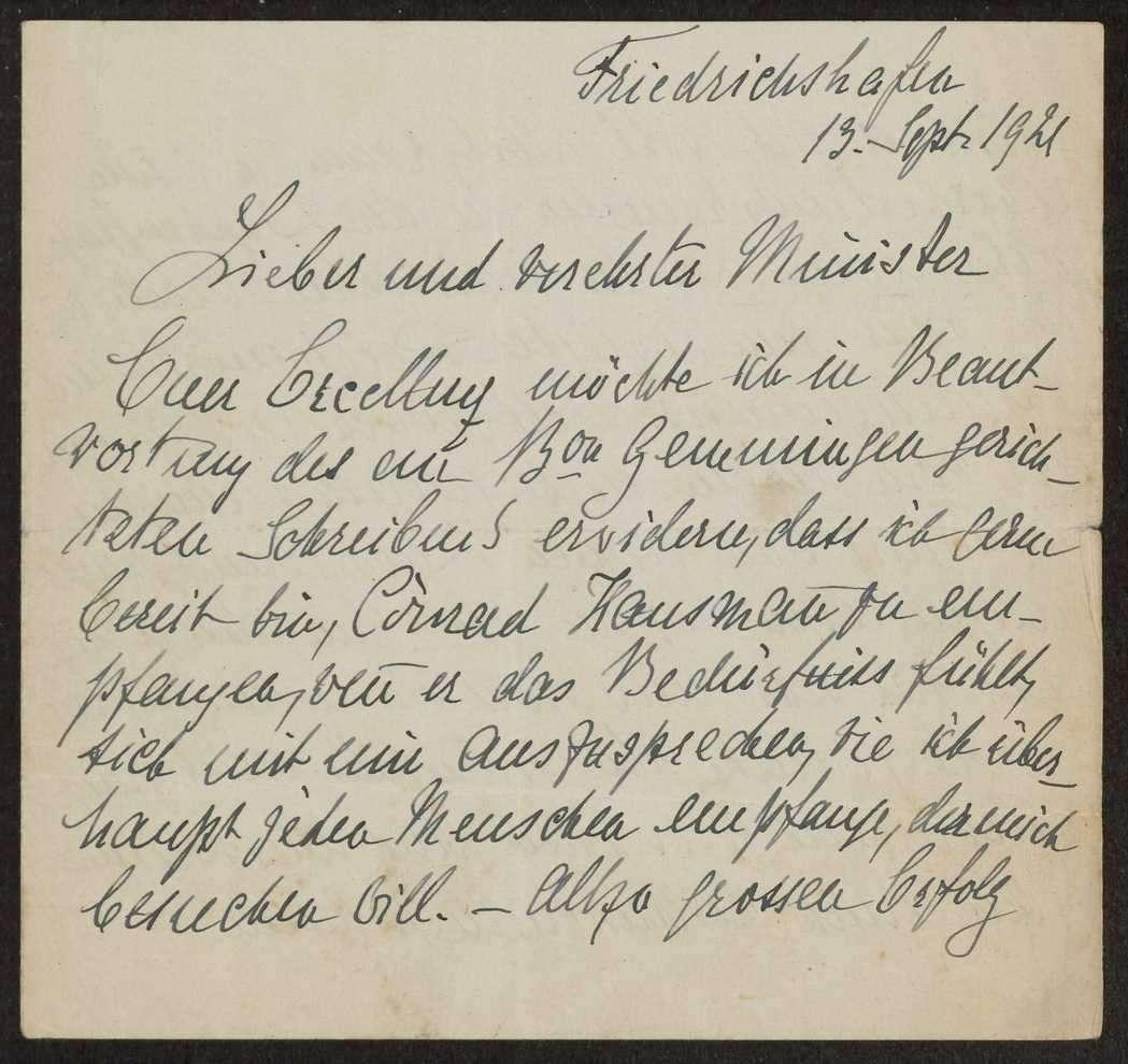 Korrespondenz Weizsäcker mit König Wilhelms II., Bild 2