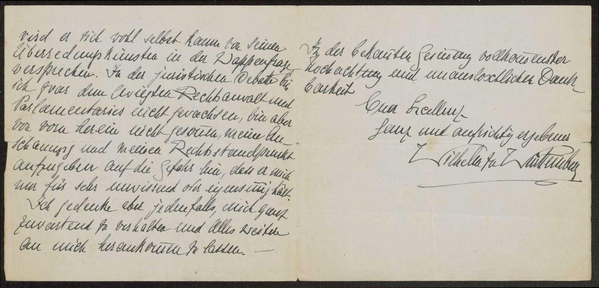 Korrespondenz Weizsäcker mit König Wilhelms II., Bild 3