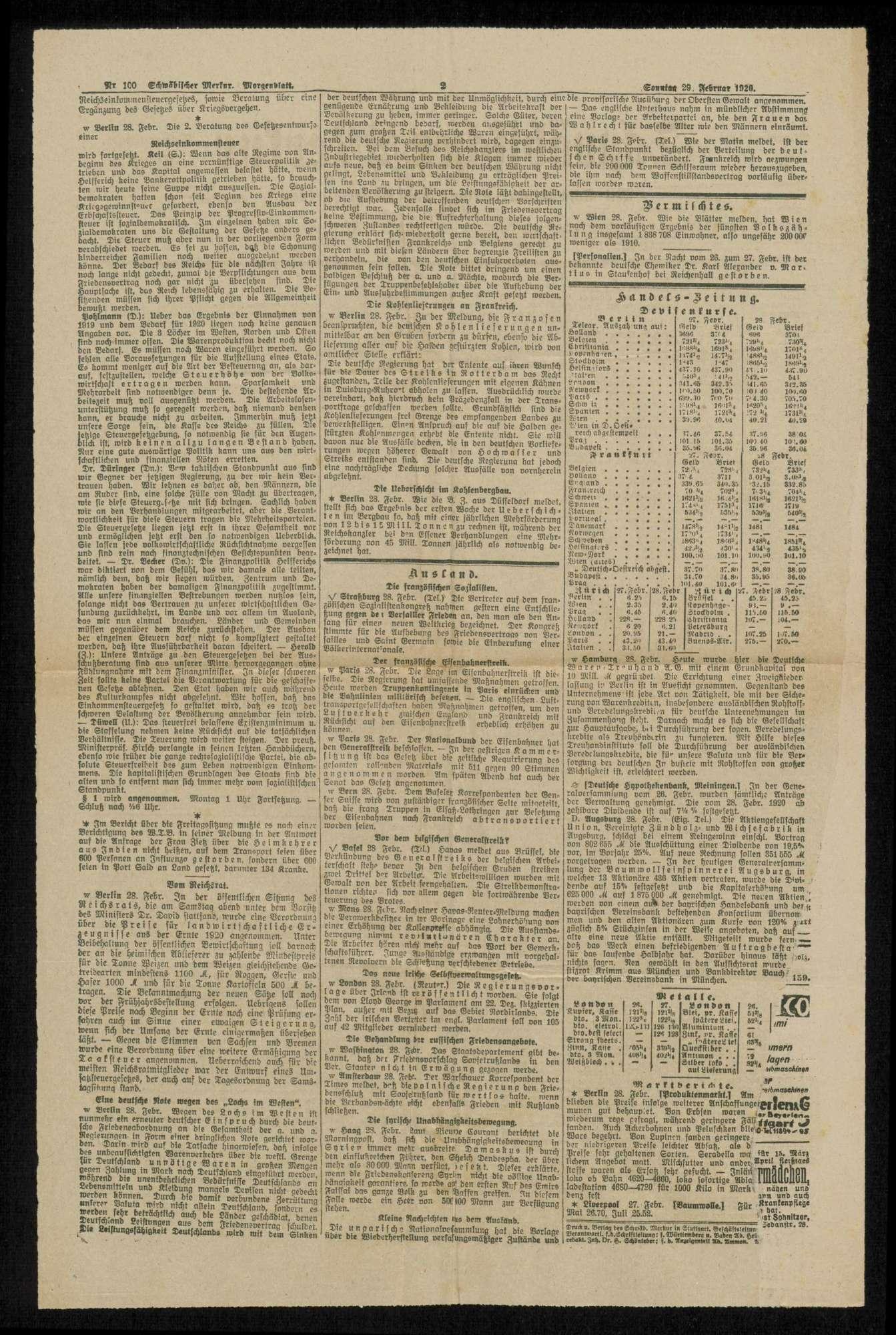 Der U-Boot-Krieg und der Kriegseintritt Amerikas. Zu den Erinnerungen an Tirpitz. Zeitungsartikel, Bild 2