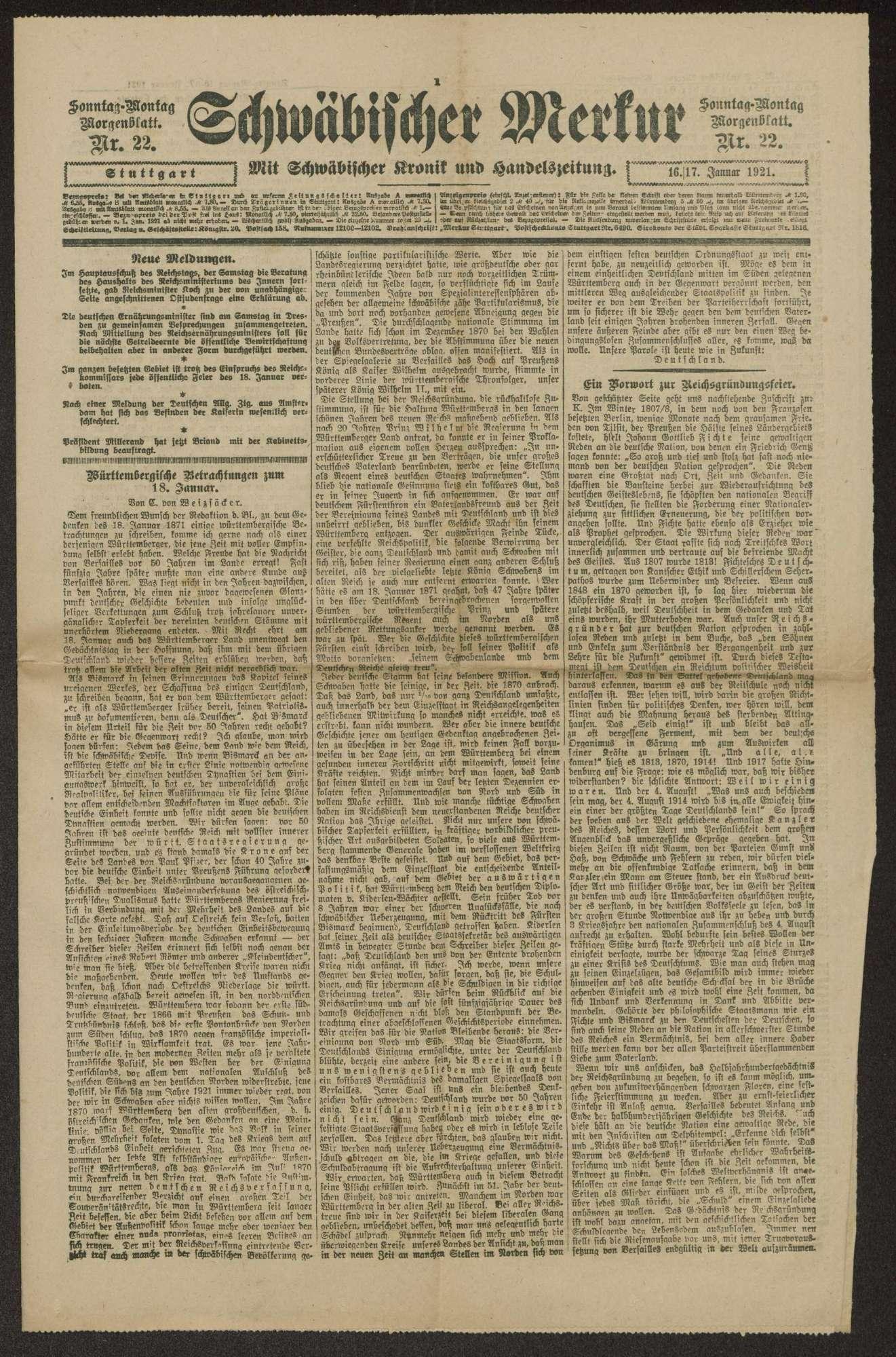 Veröffentlichungen von Weizsäcker. Schreiben, Druckschriften, Zeitungsausschnitte, Bild 2