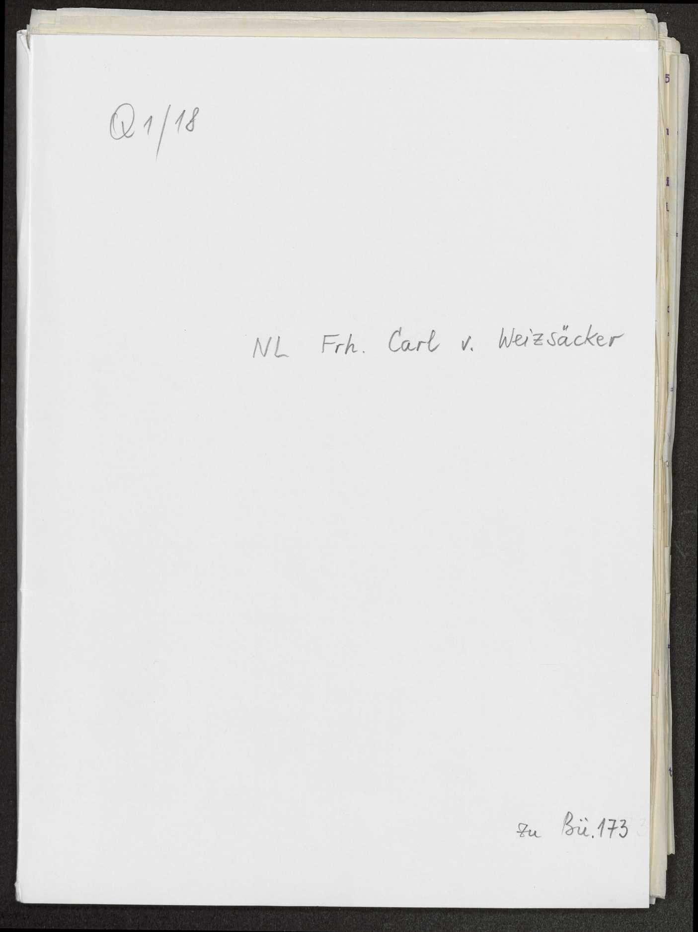 Lebenserinnerungen von Weizsäcker. Maschinenschriftliche Abschrift von Gustel Meibom. Weiterführung von Ernst v. Weizsäcker, 1926, Bild 1