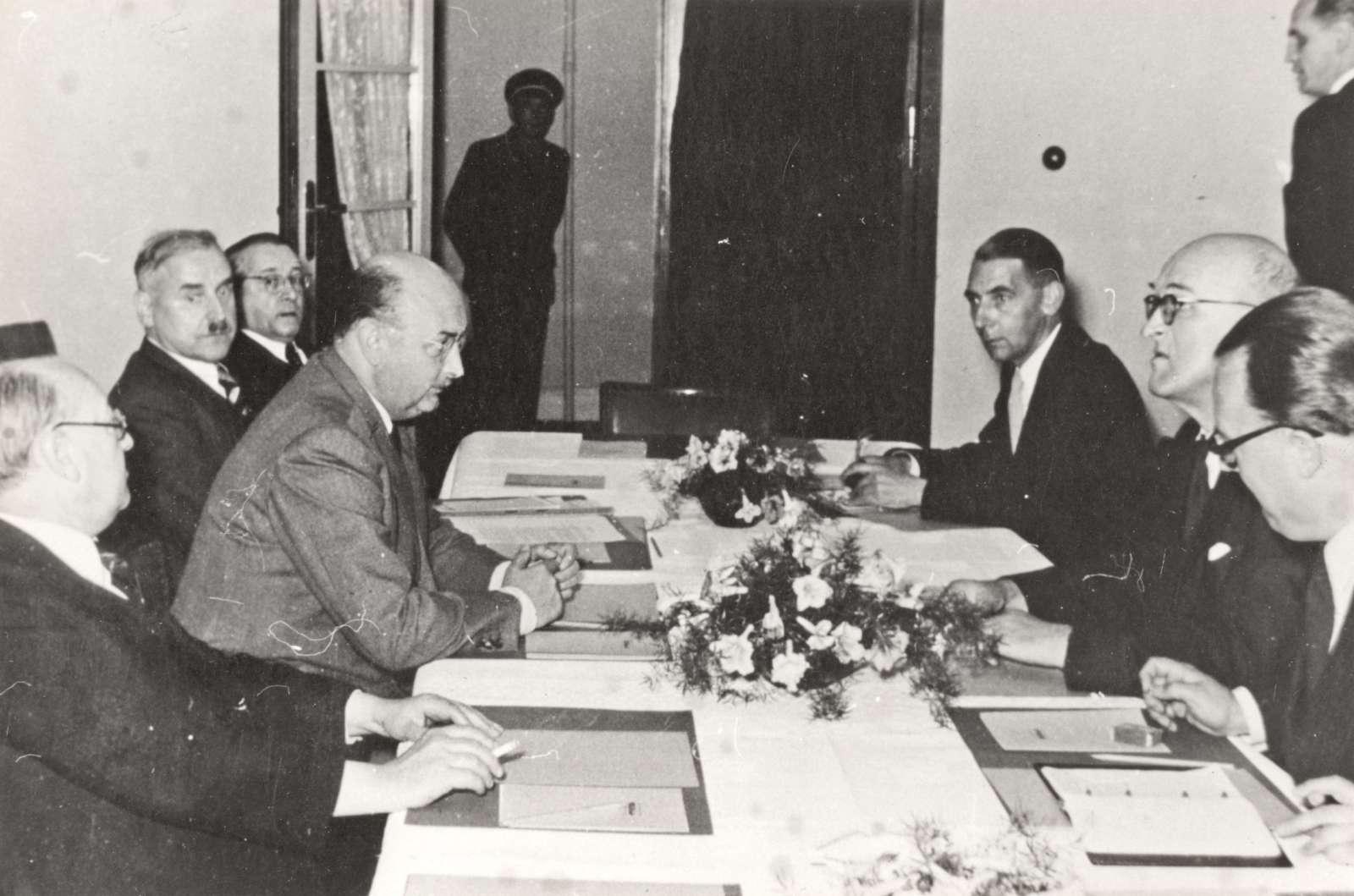 Südweststaatkonferenz in Wildbad am 12. Oktober 1950, Bild 2