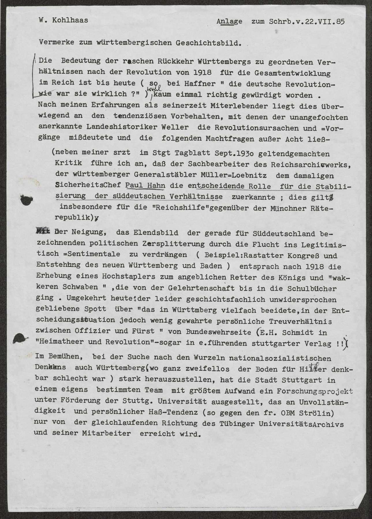 Bericht über die Revolution im November 1918 in Stuttgart, Bild 2