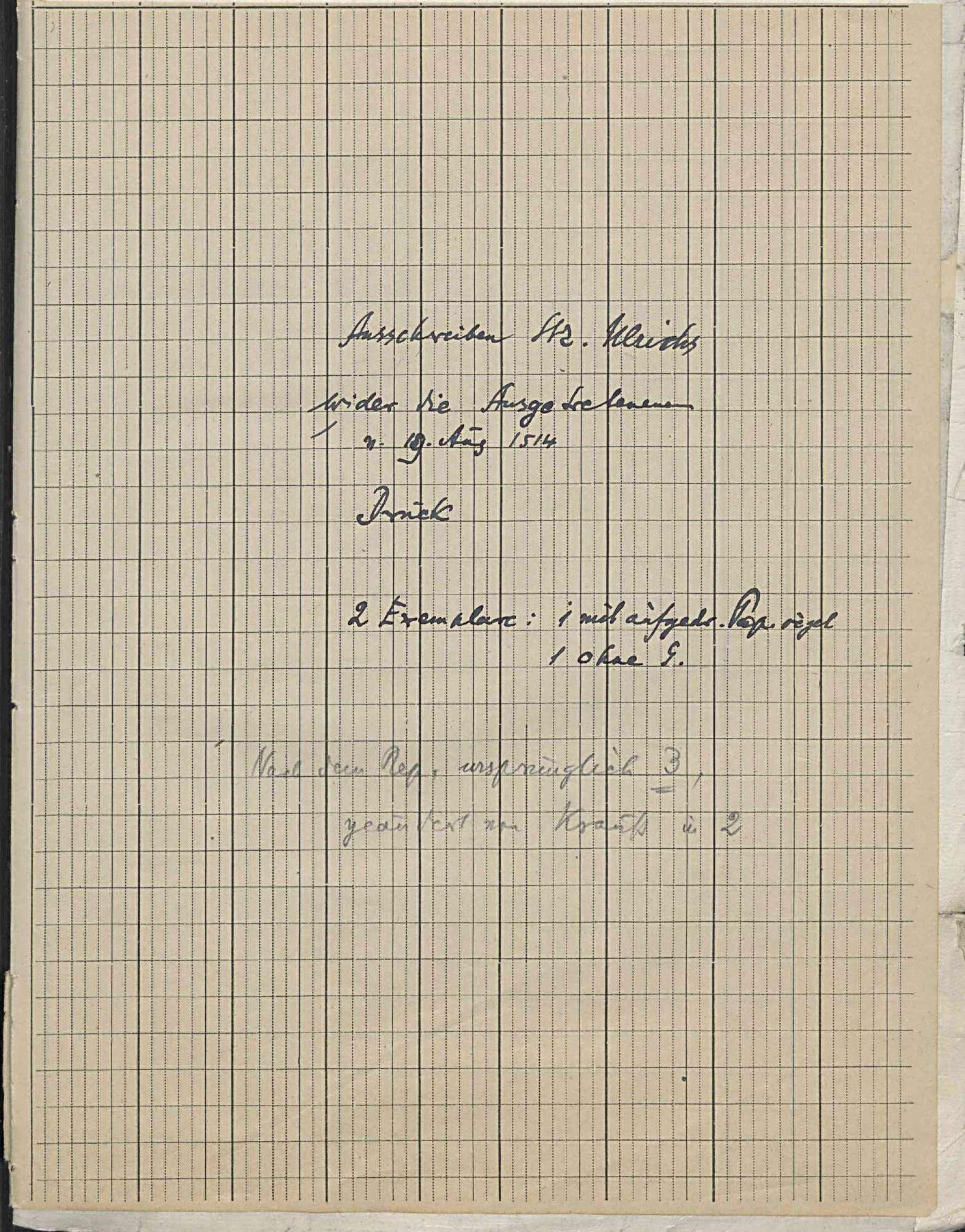 """Mandate und Verlautbarungen gegen die Aufständischen des """"Armen Conrad"""", Umschlag 3"""