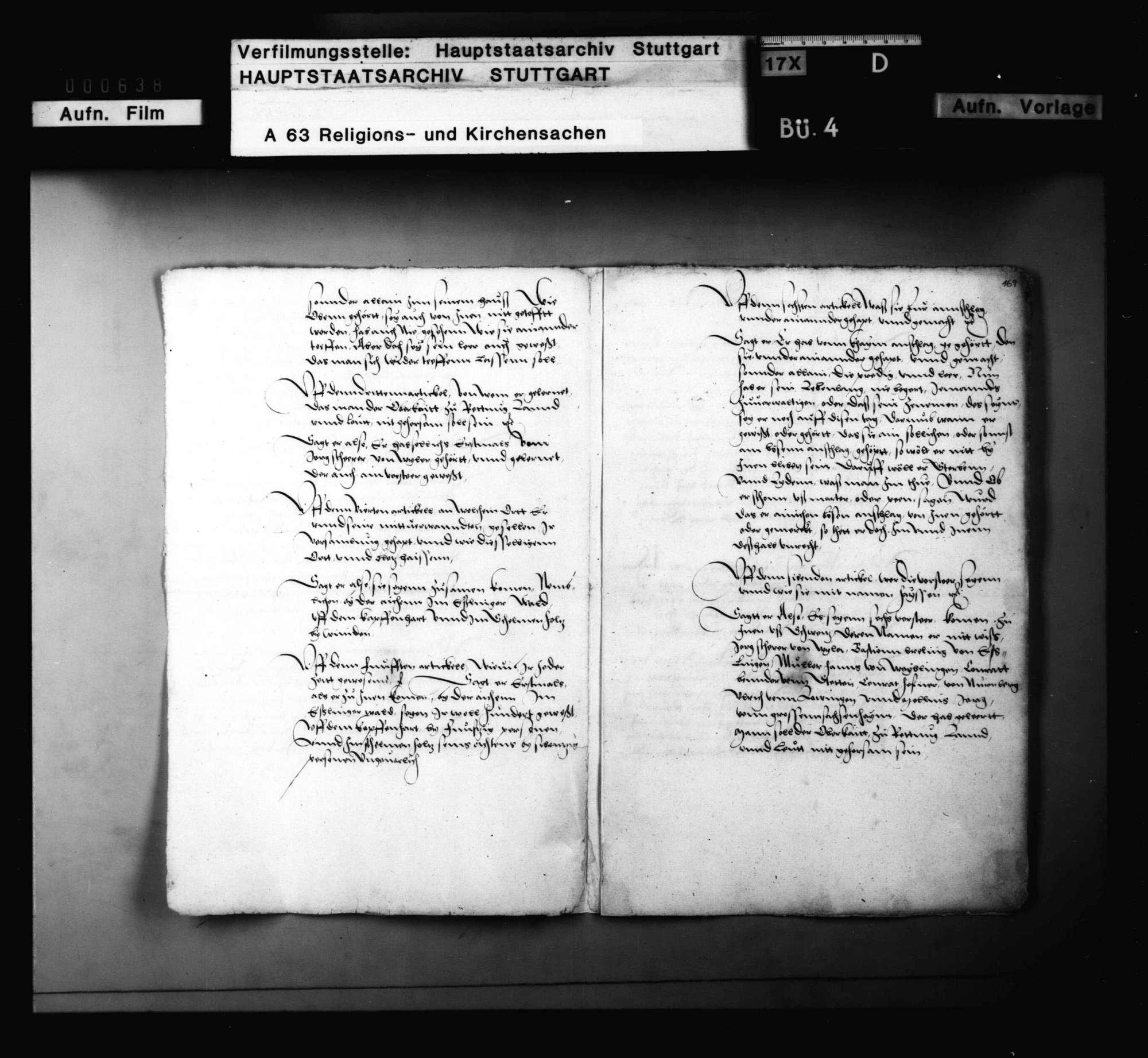 Bericht des Vogts zu Marbach, die Prozessierung eines Wiedertäufers betreffend, Bild 2