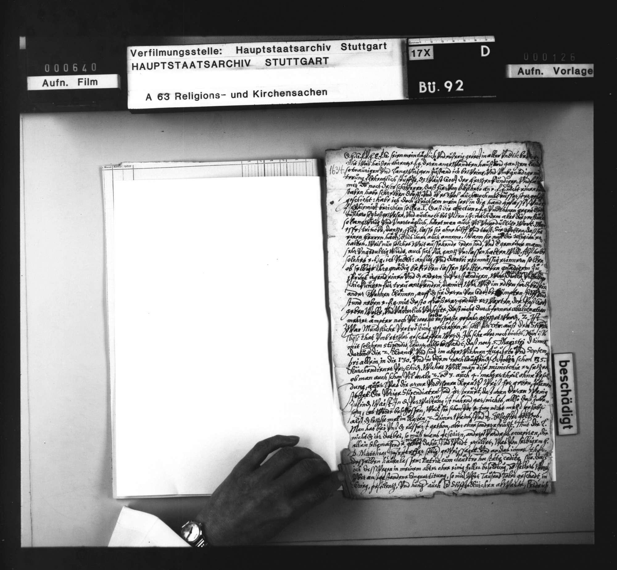 Schreiben des Konsistorialrats Erhard Weinmann an Herzog Eberhard III. von Württemberg in Straßburg über die kirchliche Not und den Mangel an Theologen., Bild 2