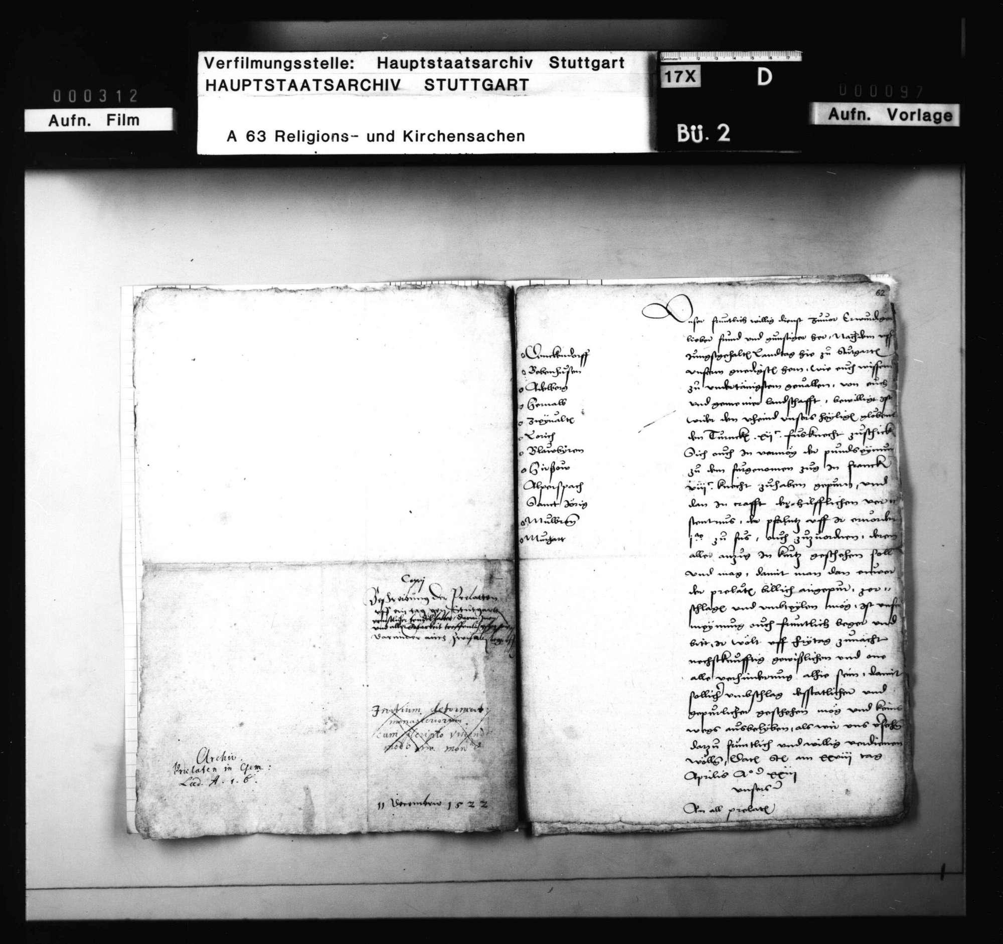 Einladungsschreiben an die Prälaten zu Landtagen in Stuttgart, die Umlage wegen der Türkenhilfe und zu den Zügen in Franken und der Pfalz betreffend, Bild 3
