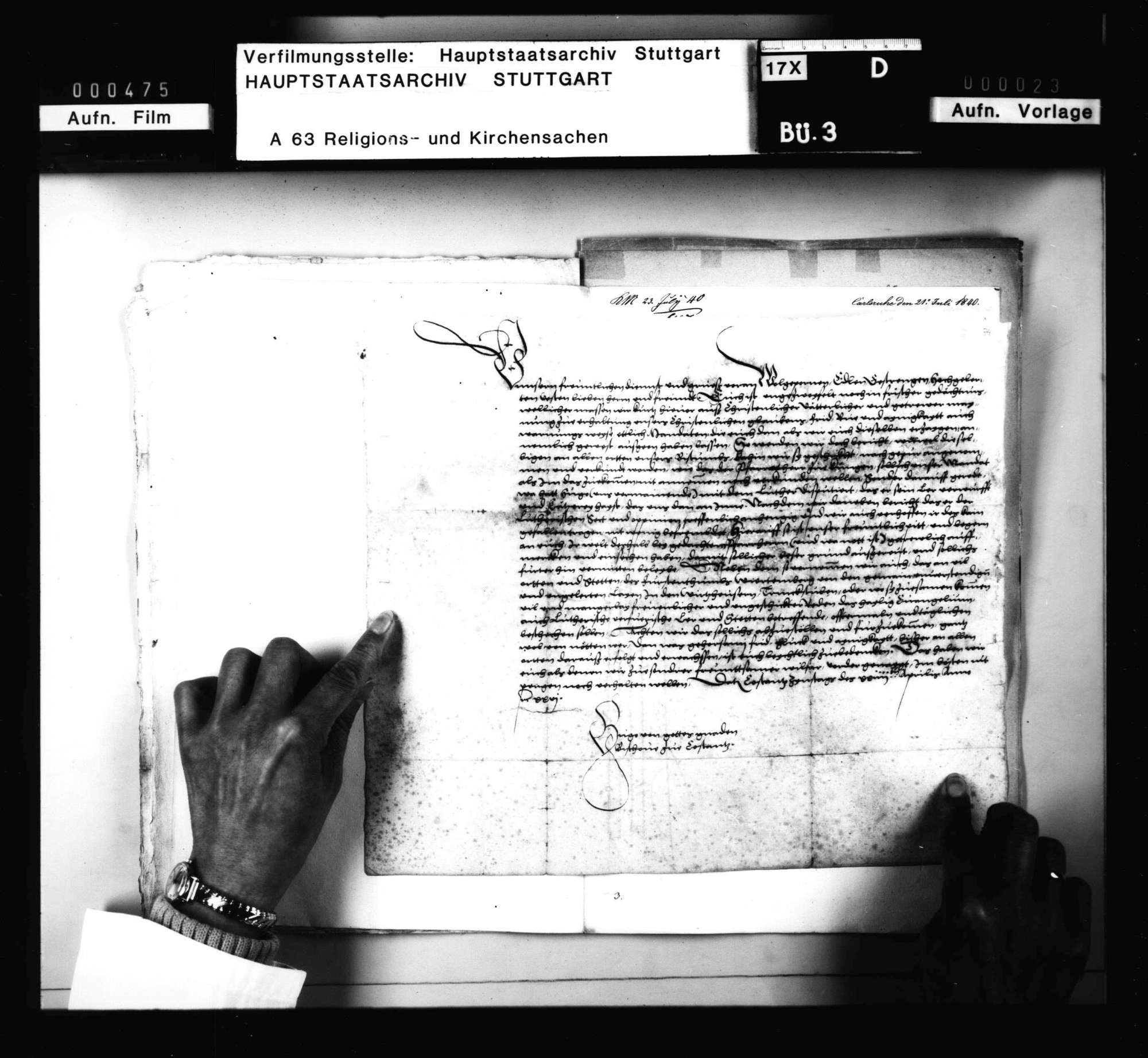 Schreiben des Bischofs von Konstanz an die österreichische Regentschaft, die Unterdrückung der lutherischen Lehre in Württemberg betreffend, besonders zu Köngen, Bild 2