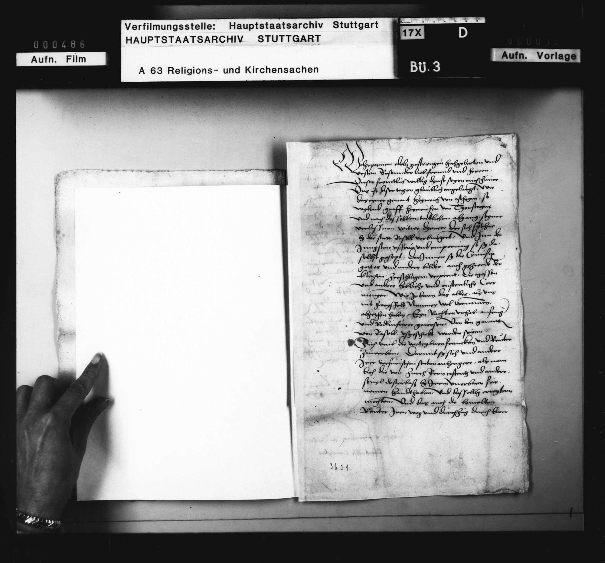 Schreiben des kaiserlichen Statthalters im Oberelsaß an den Statthalter in Württemberg, Bild 3