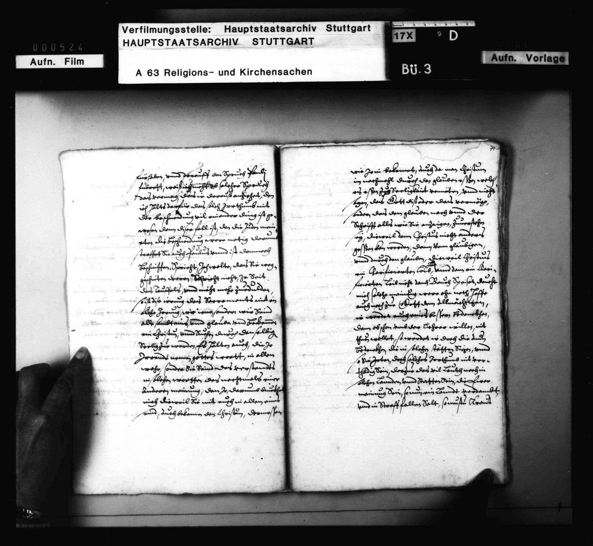 Briefwechsel zwischen Melanchthon, Brenz, Philipp von Hessen, betreffend die Union von Lutheranern und Reformierten, Bild 3