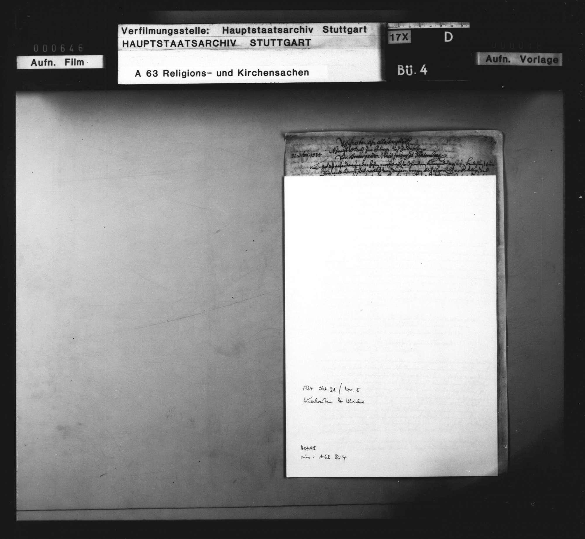 Landesweite (reformatorische) Regelungen Herzog Ulrichs zu Beginn seiner zweiten Regierungsperiode, Bild 1