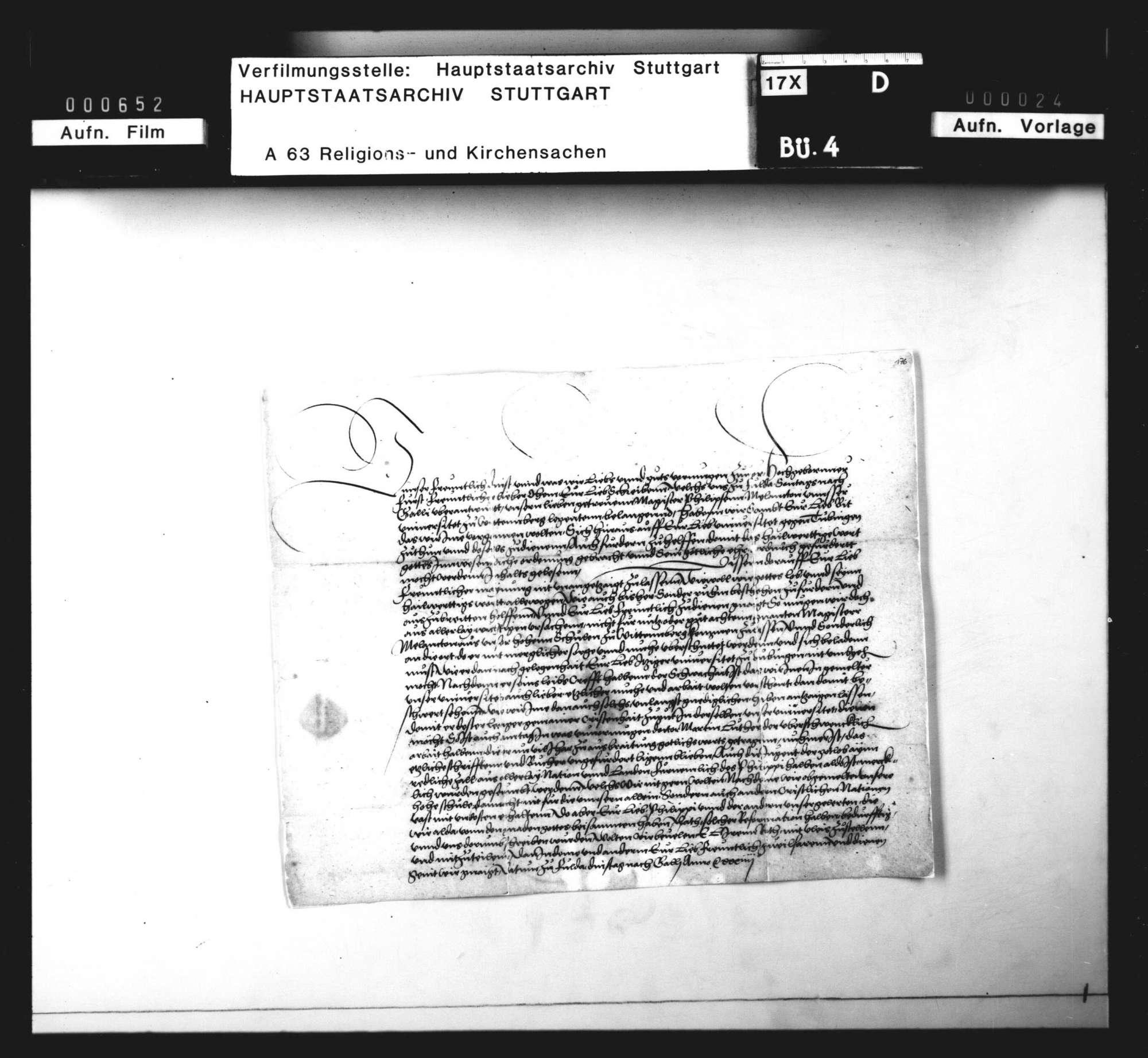 Schreiben des Kurfürsten Johann Friedrich an Herzog Ulrich wegen Melanchthons Berufung nach Tübingen, Bild 2