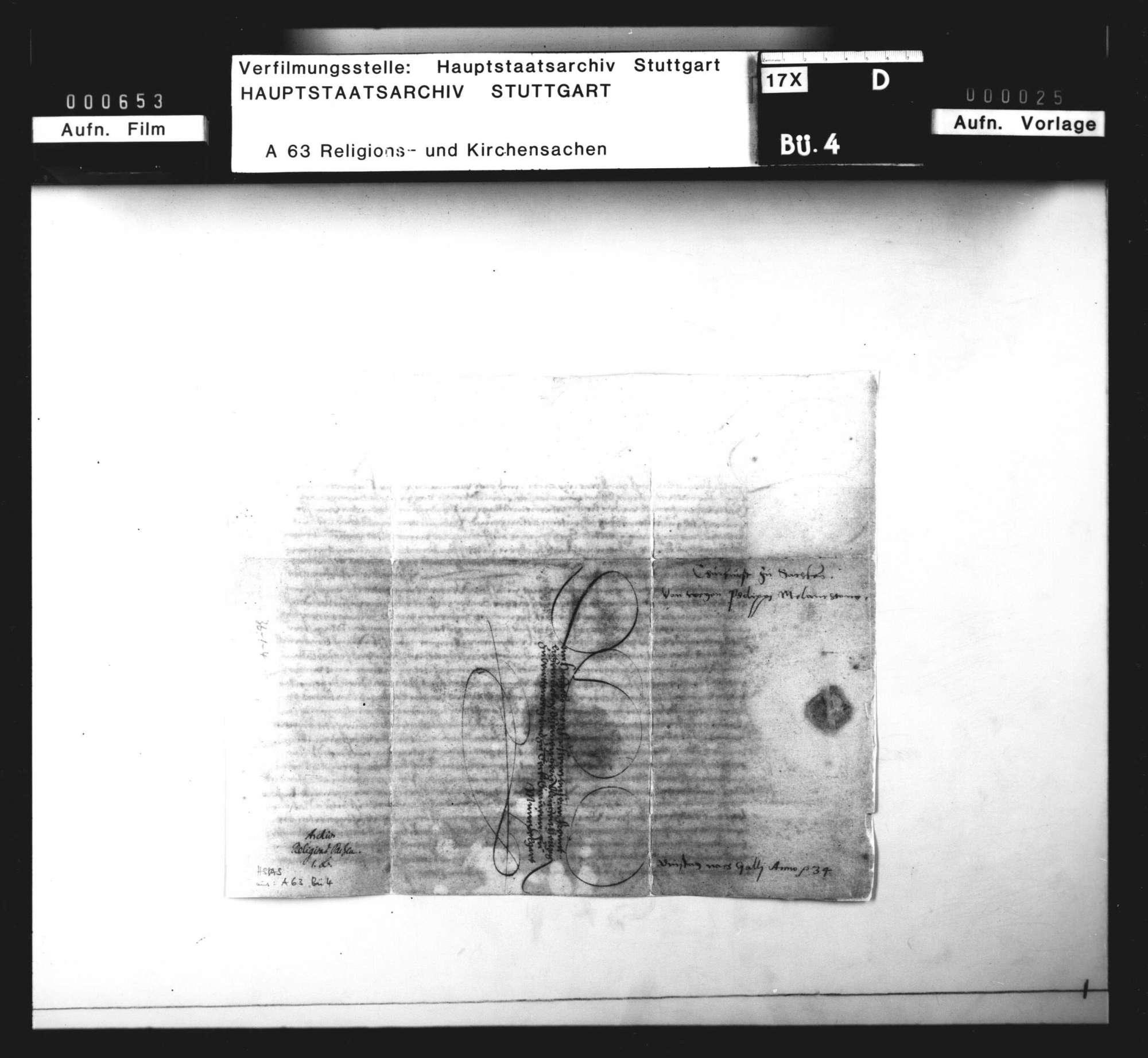 Schreiben des Kurfürsten Johann Friedrich an Herzog Ulrich wegen Melanchthons Berufung nach Tübingen, Bild 3