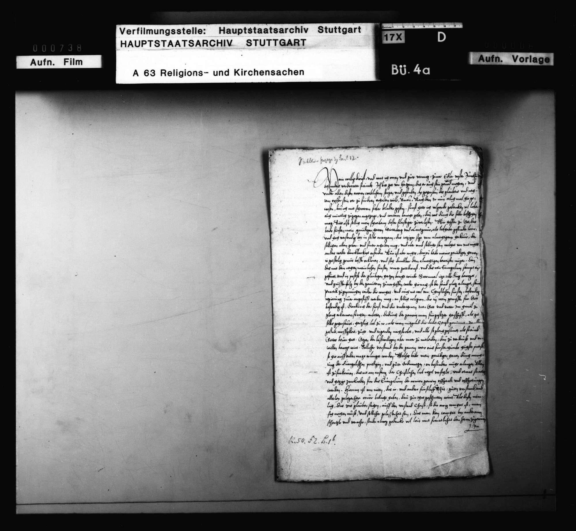 Brief Capitos mit Empfehlung zugunsten des Gregorius und Blarers sowie mit Bedenken gegen Schwenkfeld, Bild 2