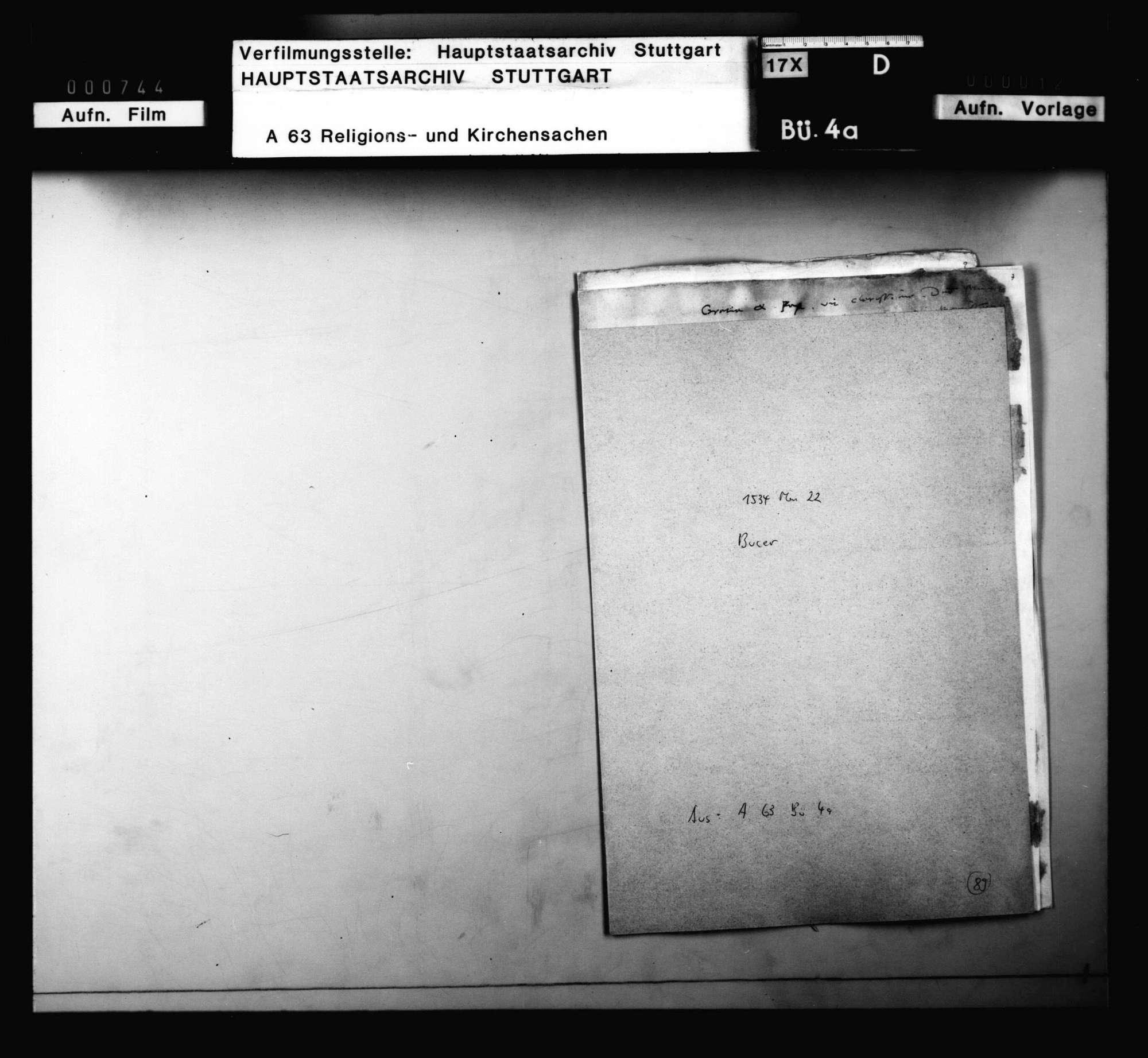 Brief Bucers, betreffend Blarer und Grynäus, Bild 2