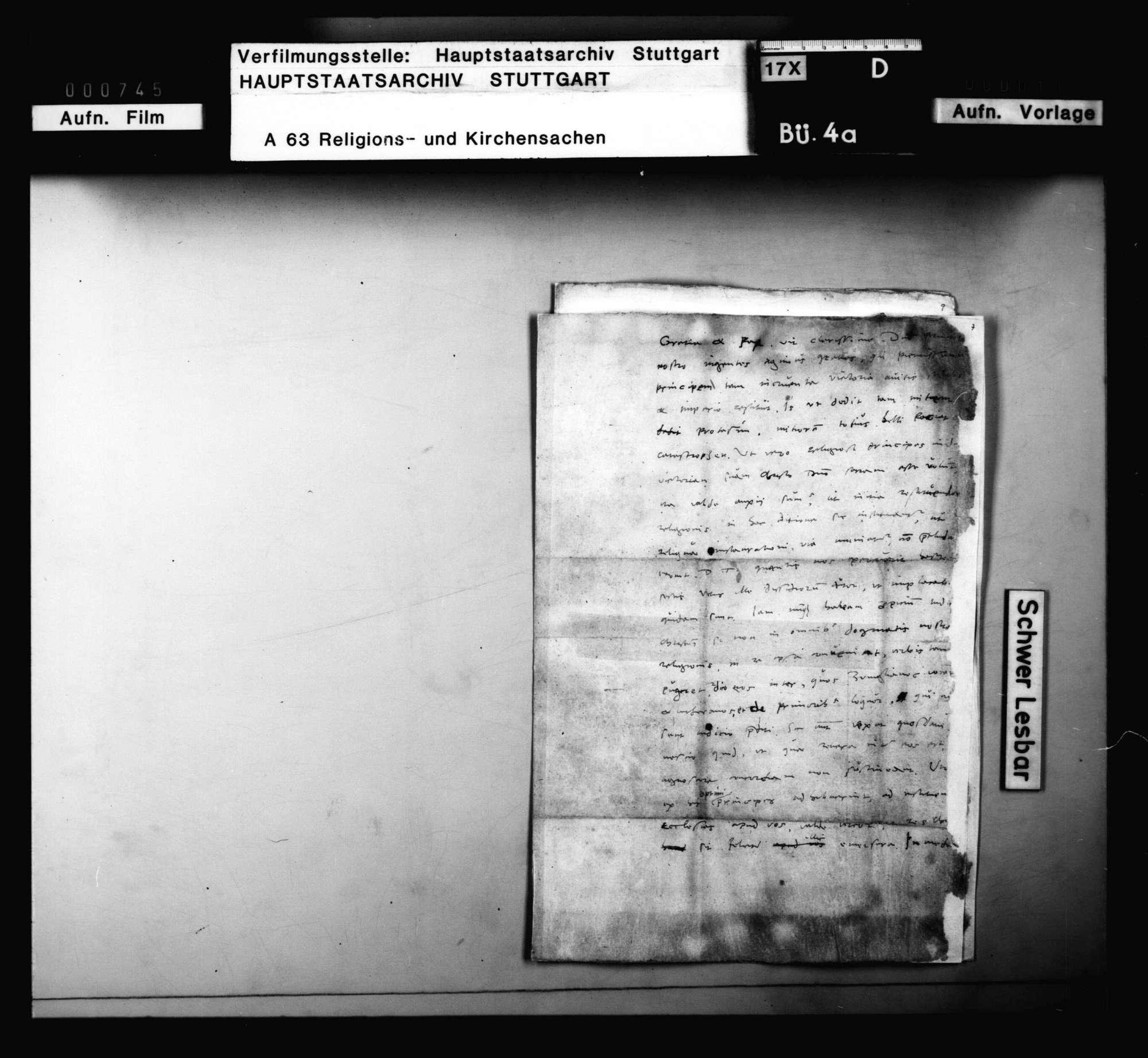 Brief Bucers, betreffend Blarer und Grynäus, Bild 3