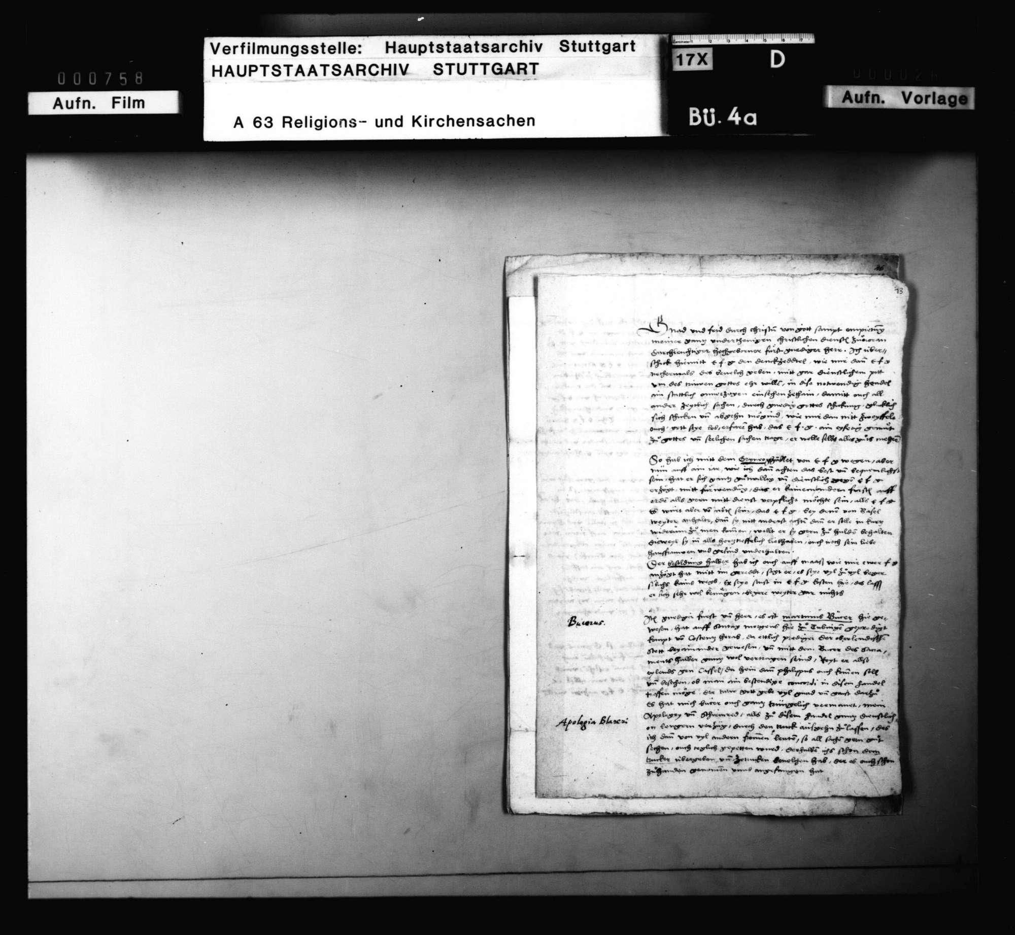 Blarers Rechtfertigung wegen seiner Lehre, Bild 2