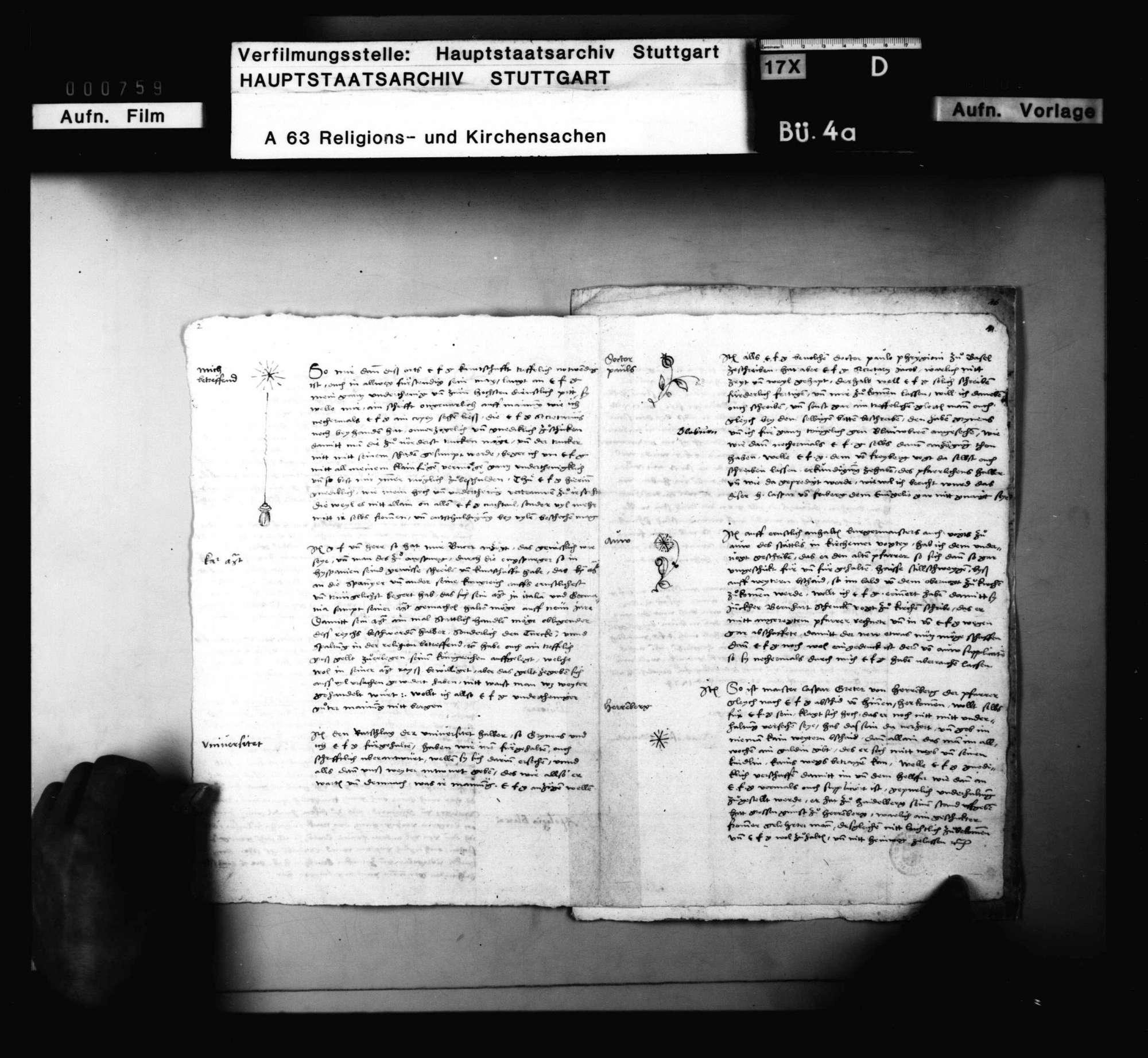 Blarers Rechtfertigung wegen seiner Lehre, Bild 3