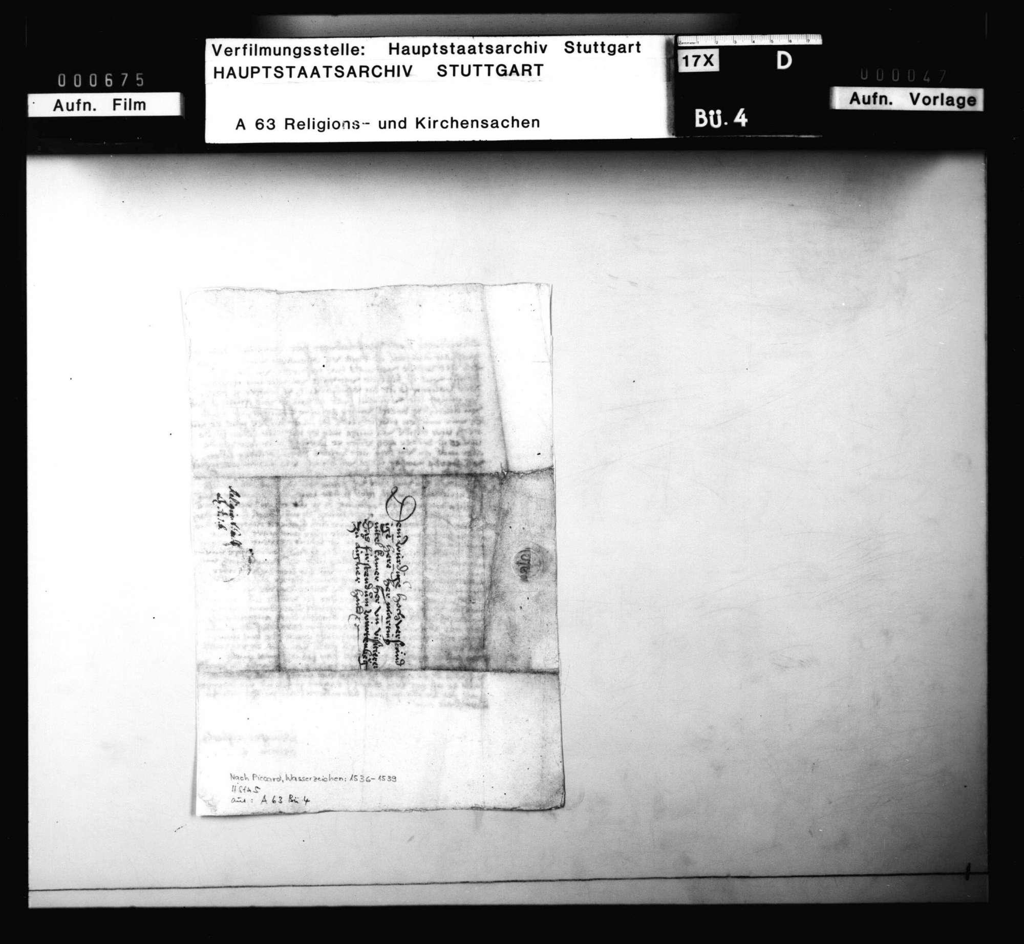 Schreiben der Priorin von Kloster Steinheim, Schwester Elisabeth Beltzin, an Martin Nittel wegen ihrer Verfolgung, Bild 3