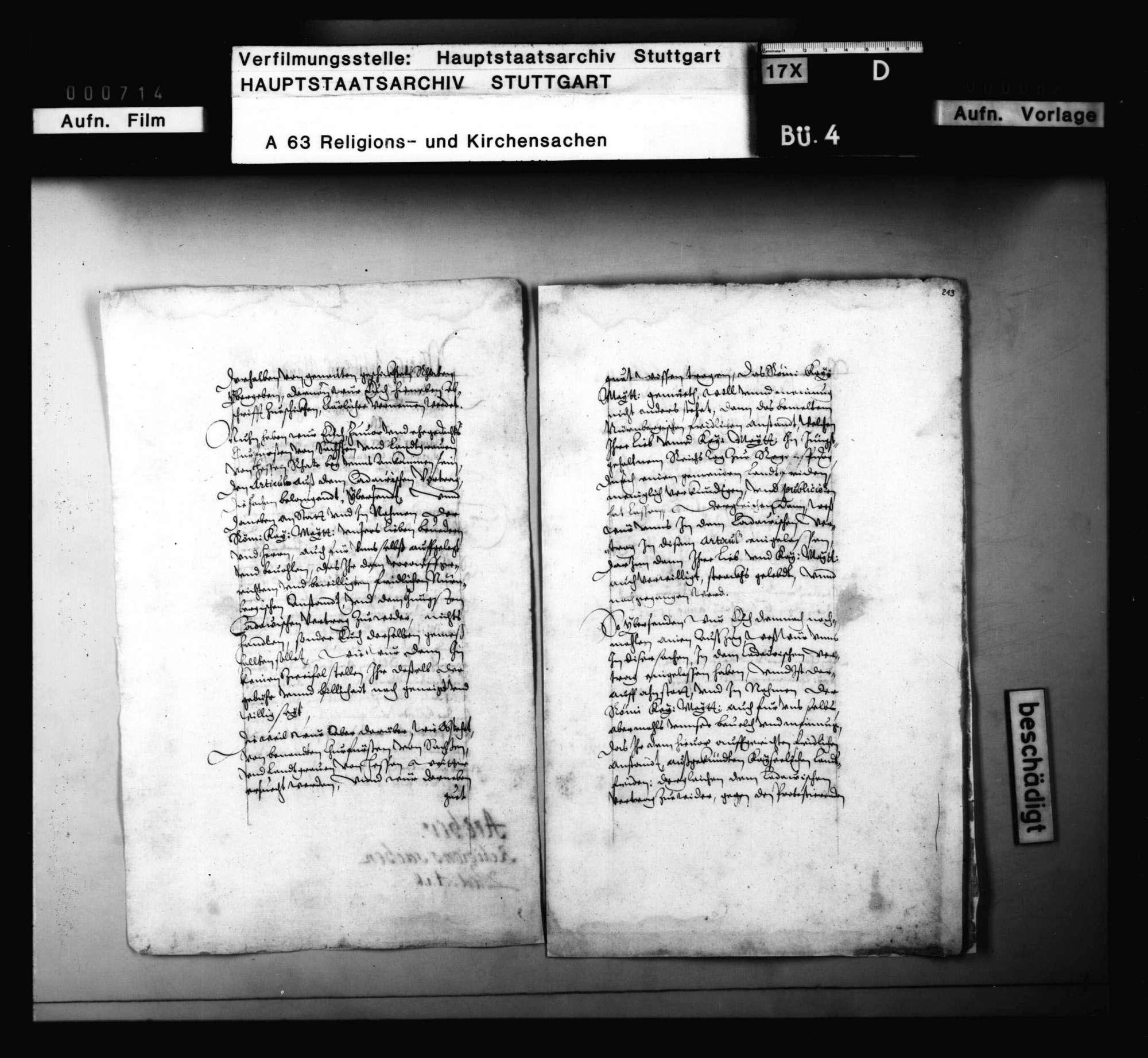 Herzog Ulrichs Vokationsschreiben an Dr. Paul Phrygius, das Evangelium in Tübingen zu lehren., Bild 1