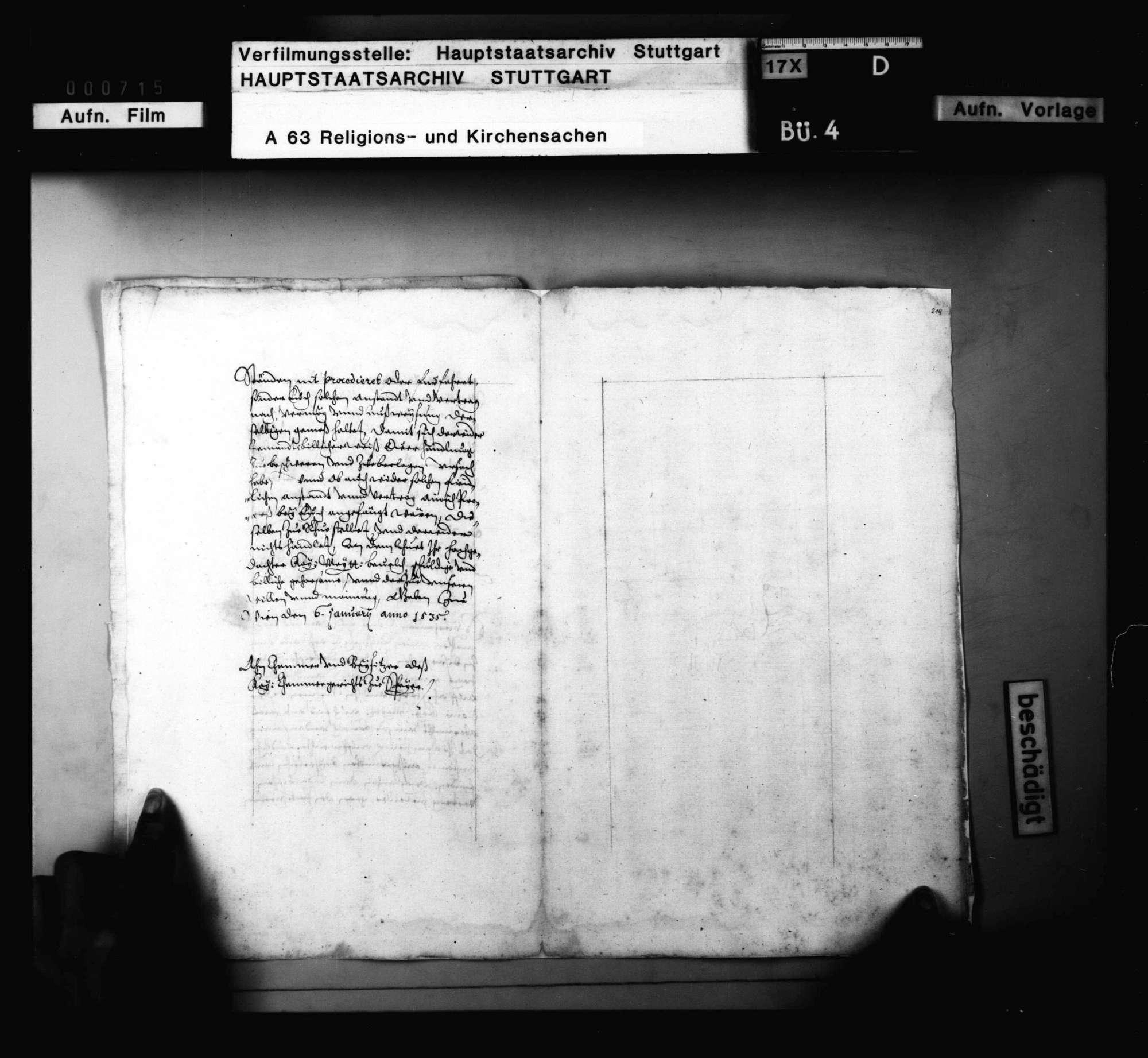 Herzog Ulrichs Vokationsschreiben an Dr. Paul Phrygius, das Evangelium in Tübingen zu lehren., Bild 2