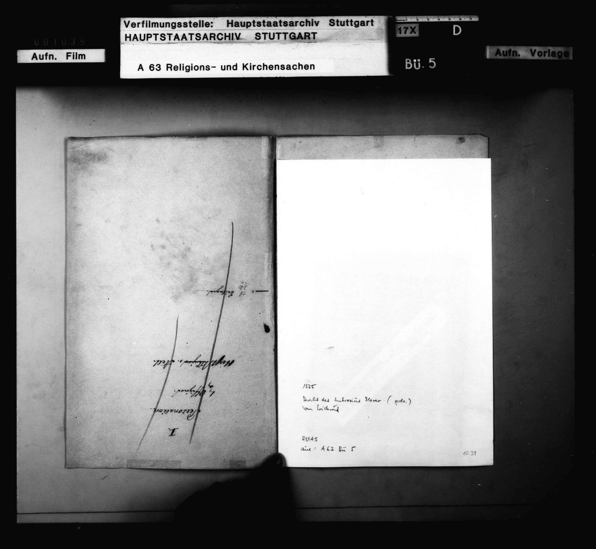 """Bericht Ambrosii Blarers von dem Widerruf, den er bei dem """"Artikul des Sakraments des Leibs und Bluts"""" getan soll haben., Bild 2"""