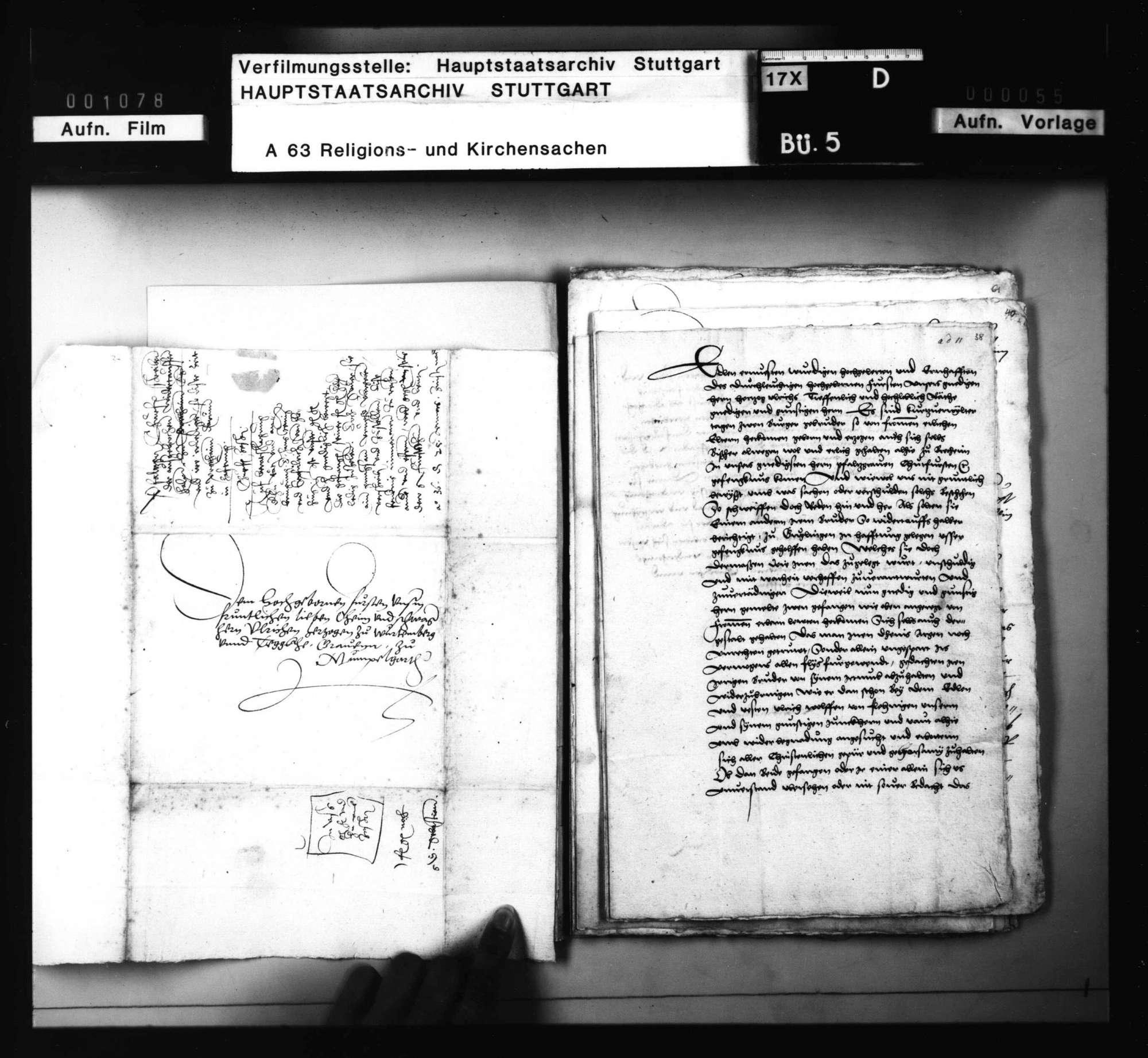 Akten betreffend die zu Güglingen ausgebrochenen Wiedertäufer Wolff Kirchner von Bretten und Hans Schmid von Knittlingen., Bild 3
