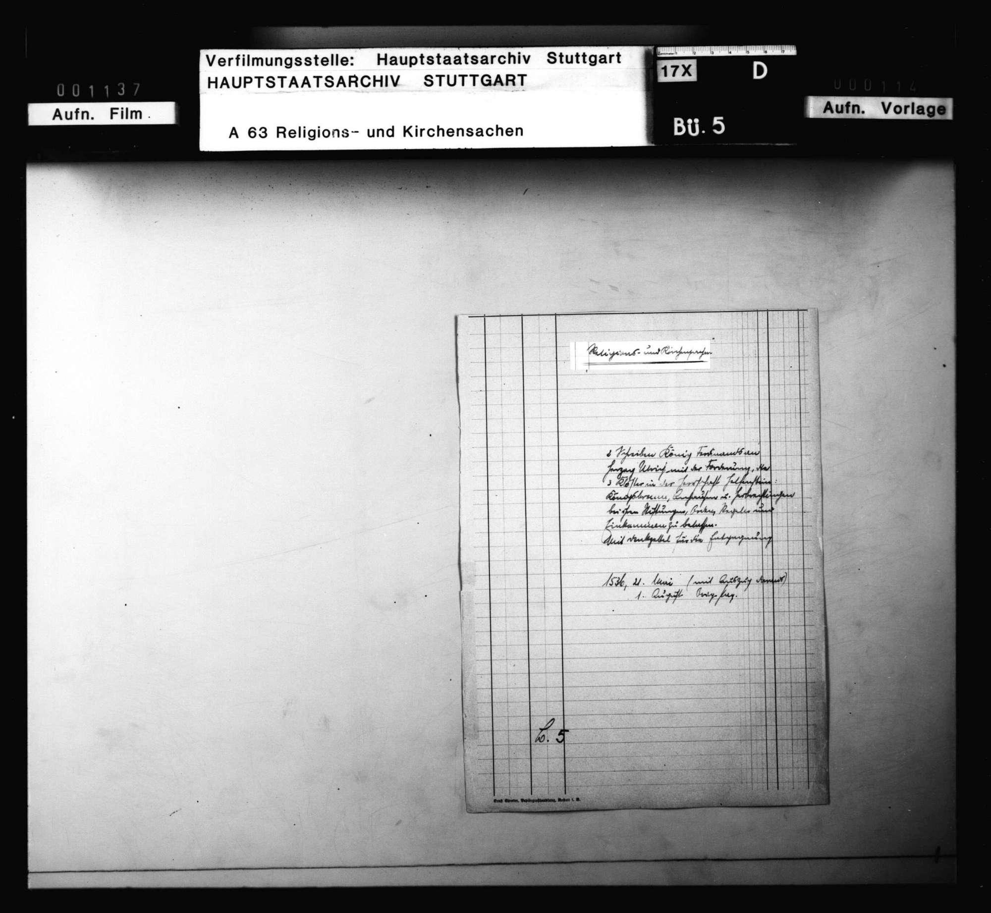 2 Schreiben König Ferdinands an Herzog Ulrich, die 3 Klöster in der Herrschaft Helfenstein (Königsbronn, Anhausen und Herbrechtingen) bei ihren Stiftungen, Orden, Regeln und Einkommen zu belassen., Bild 1