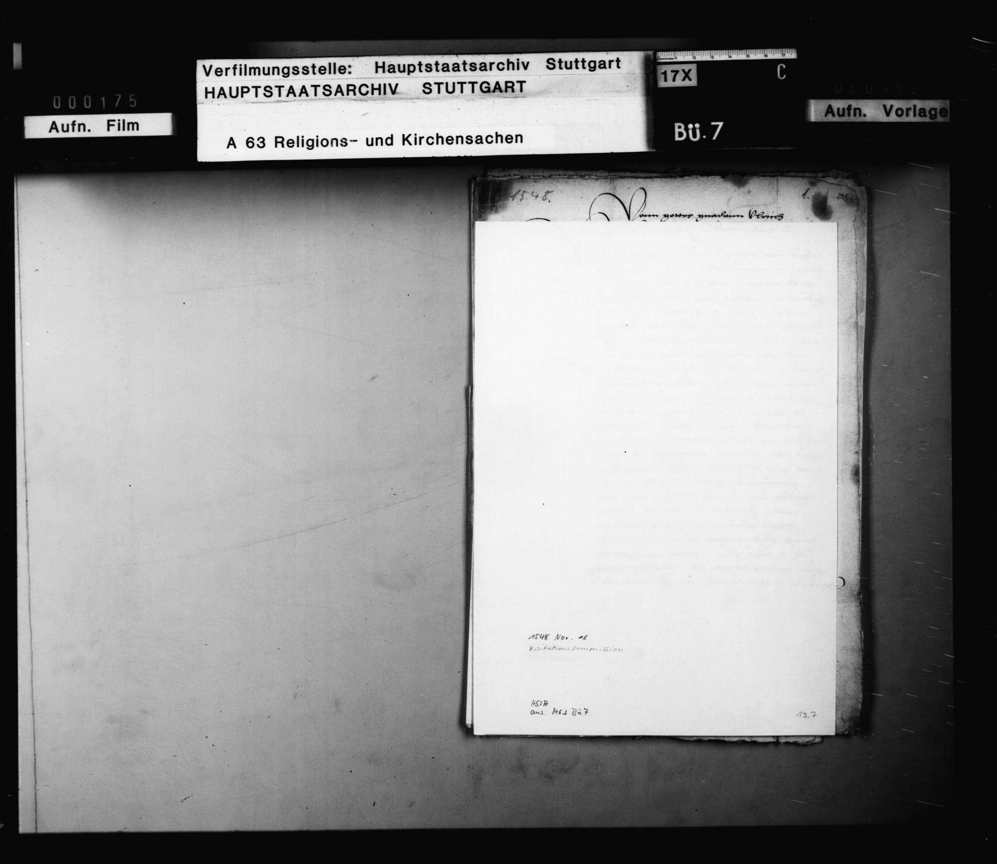"""Einsetzung der """"directores"""" der Visitationskommission., Bild 1"""