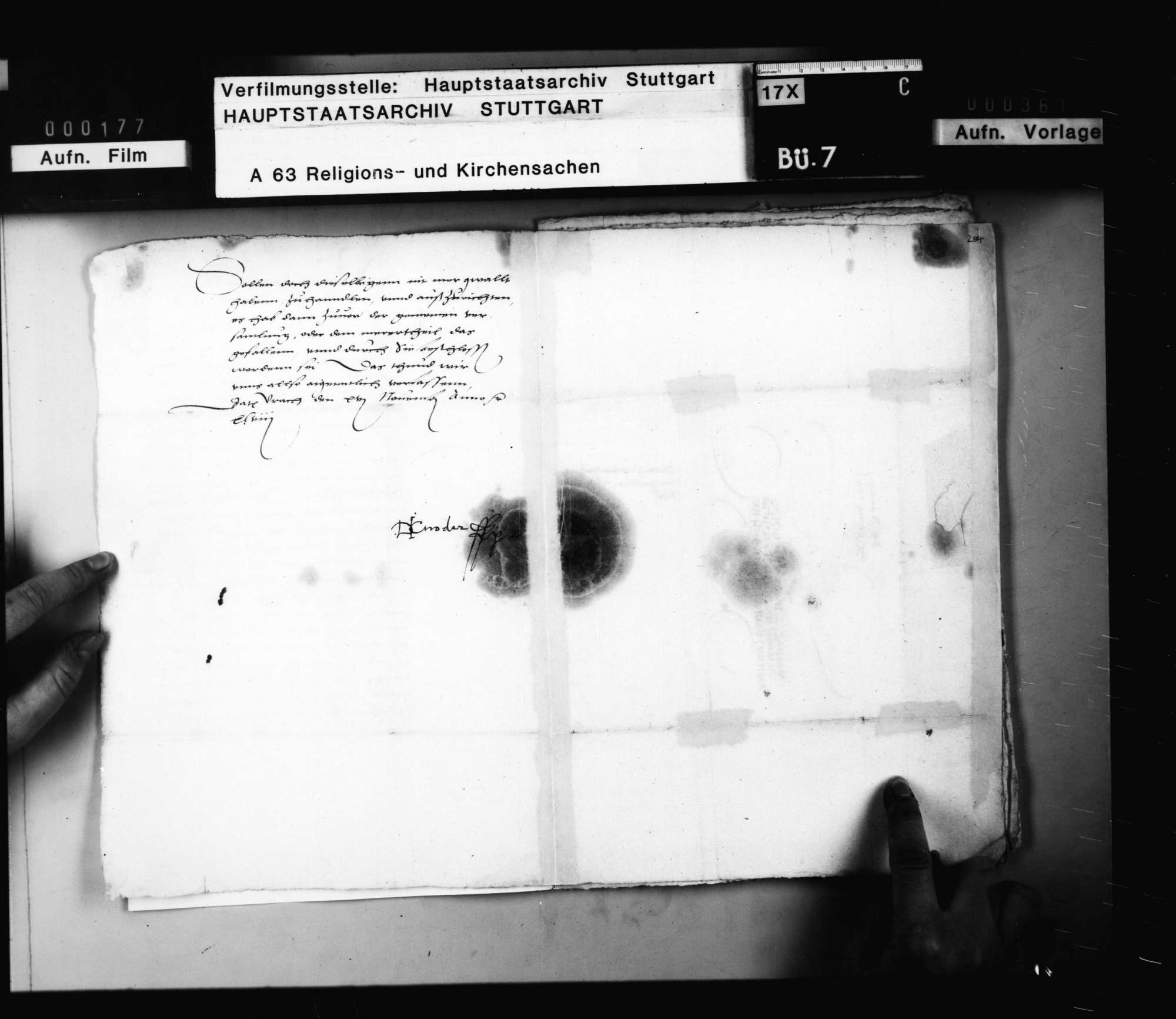 """Einsetzung der """"directores"""" der Visitationskommission., Bild 3"""