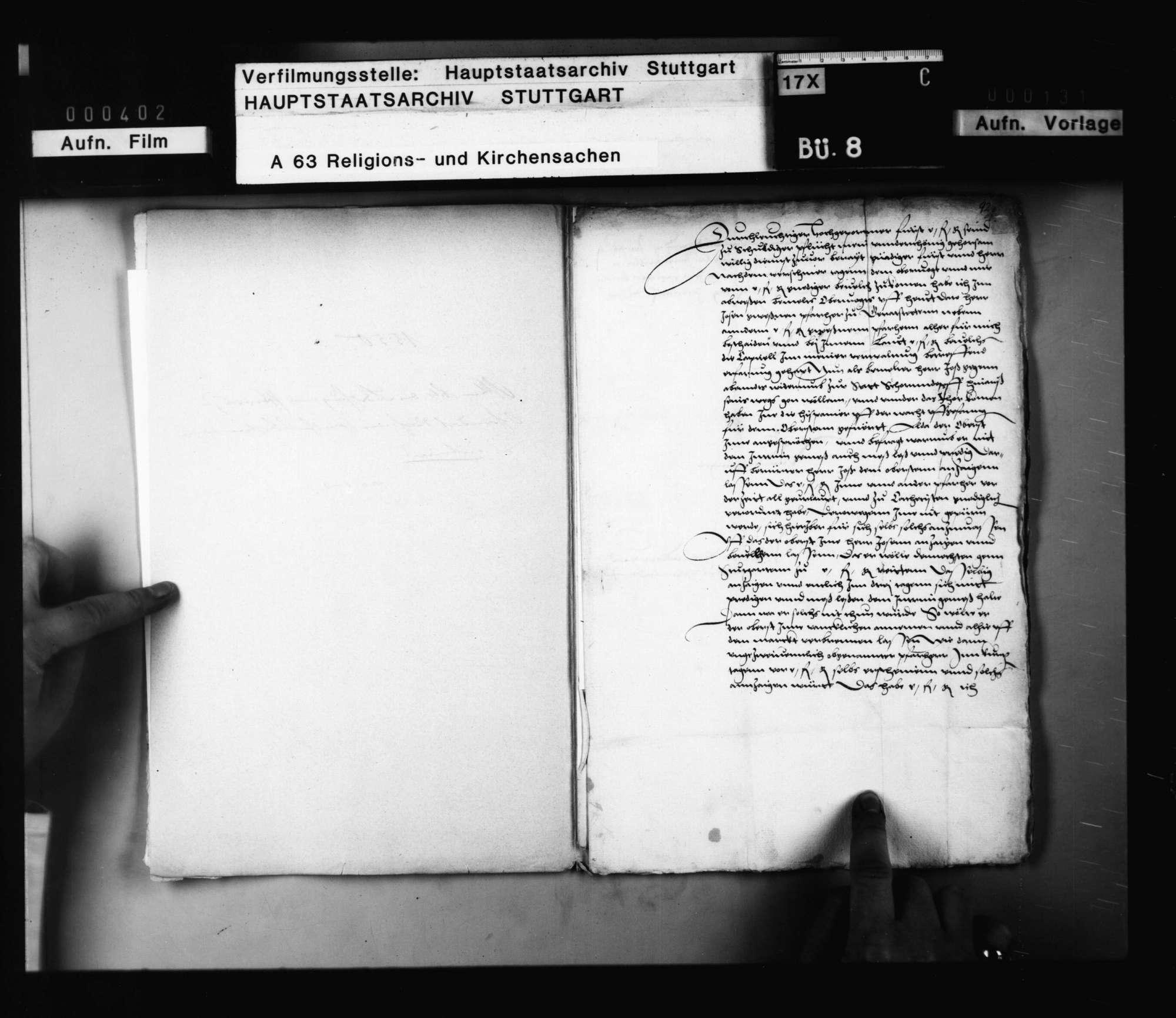 Die Bedrohung eines Pfarrers zu Schorndorf durch einen spanischen Obersten wegen des Interims., Bild 2