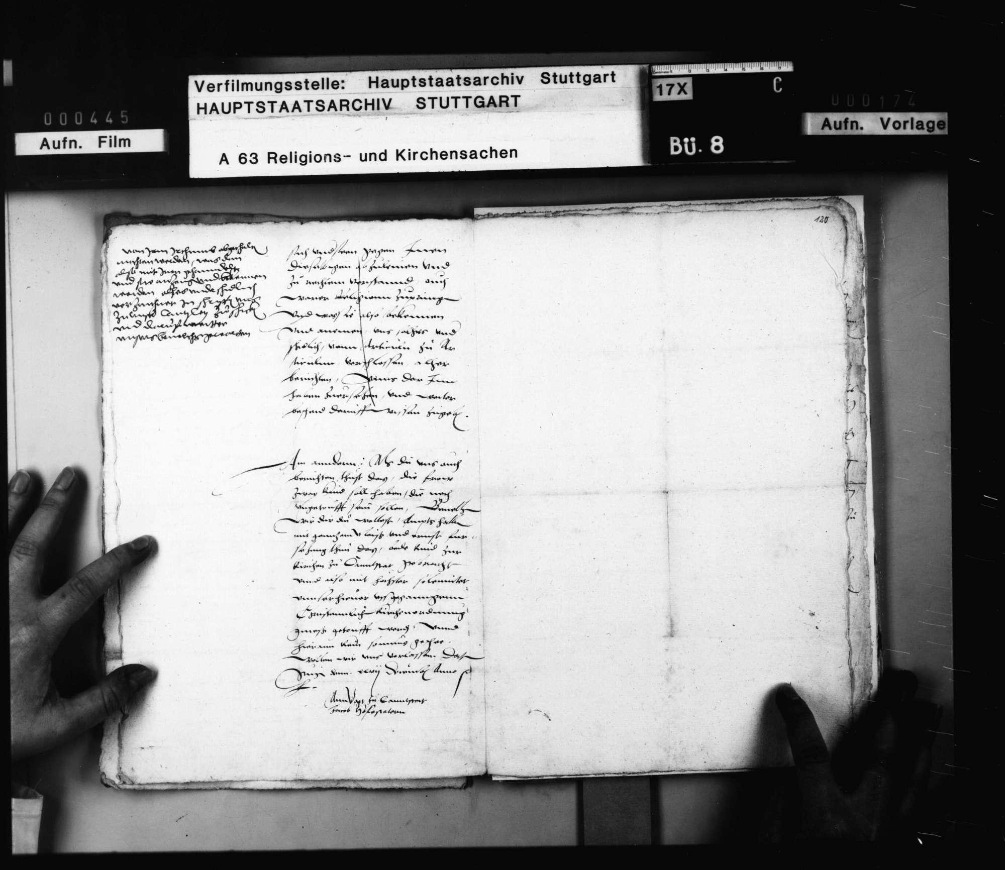 Reskript an den Vogt zu Cannstatt Jacob Hofstetter über die Durchführung des Verfahrens gegen die gefangenen Anhänger von Schwenkfeld., Bild 2
