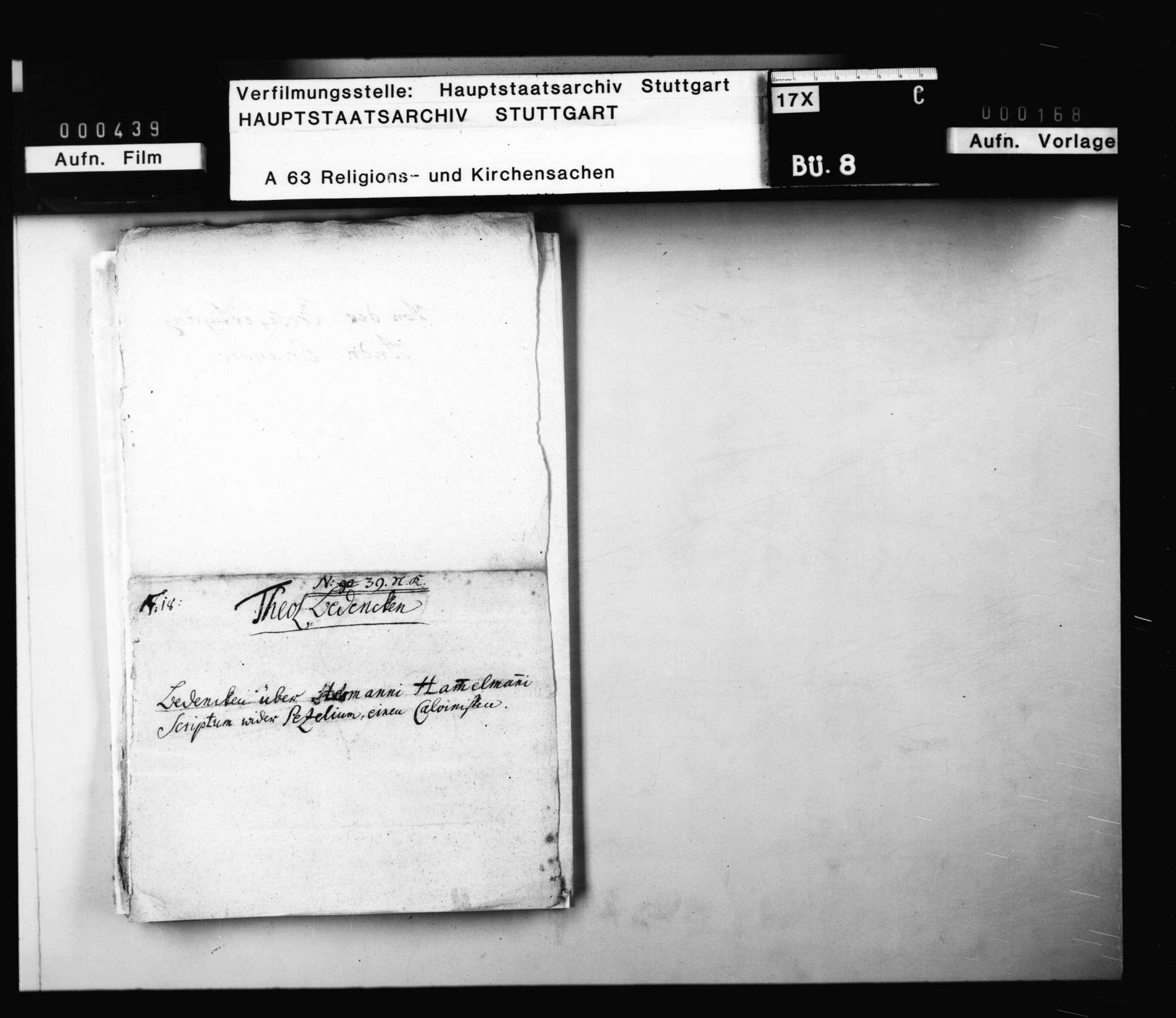Früheres (mehrfach verwendetes) Aktentitelblatt zu 8/21 - 8/27 ., Bild 2