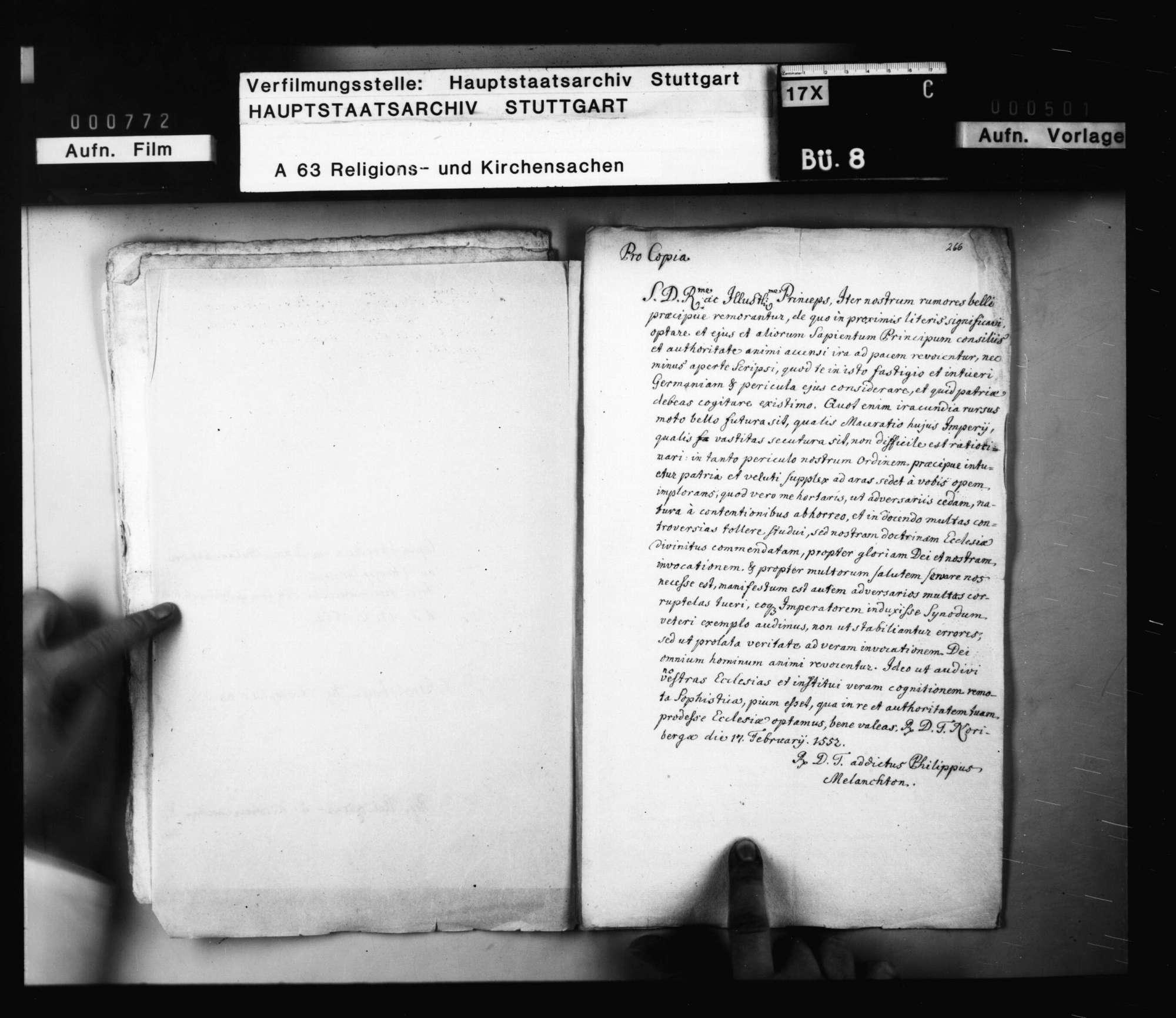 Rundschreiben von Philipp Melanchthon [an die Reichsfürsten], betreffend reformatorische und reichspolitische Fragen. Nürnberg (Abschrift)., Bild 2