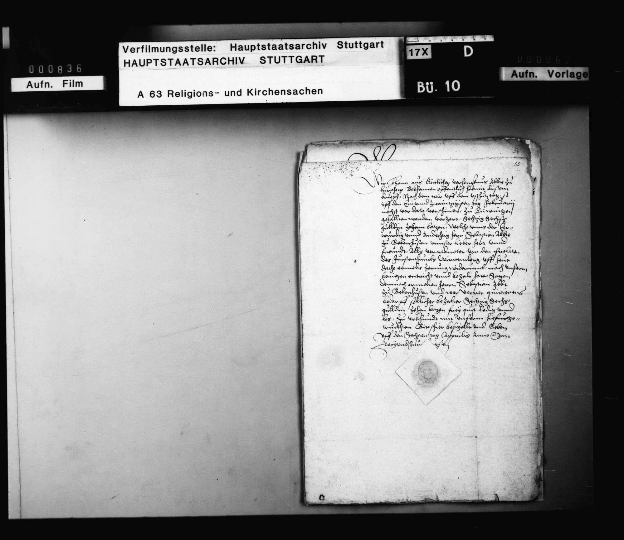Quittungen der Äbte von Hirsau und Murrhardt über Zehrungsgelder beim Ausschusstag in Tübingen, ausbezahlt von Abt Sebastian Lutz von Bebenhausen als Verordneter der Prälaten des Fürstentums., Bild 1