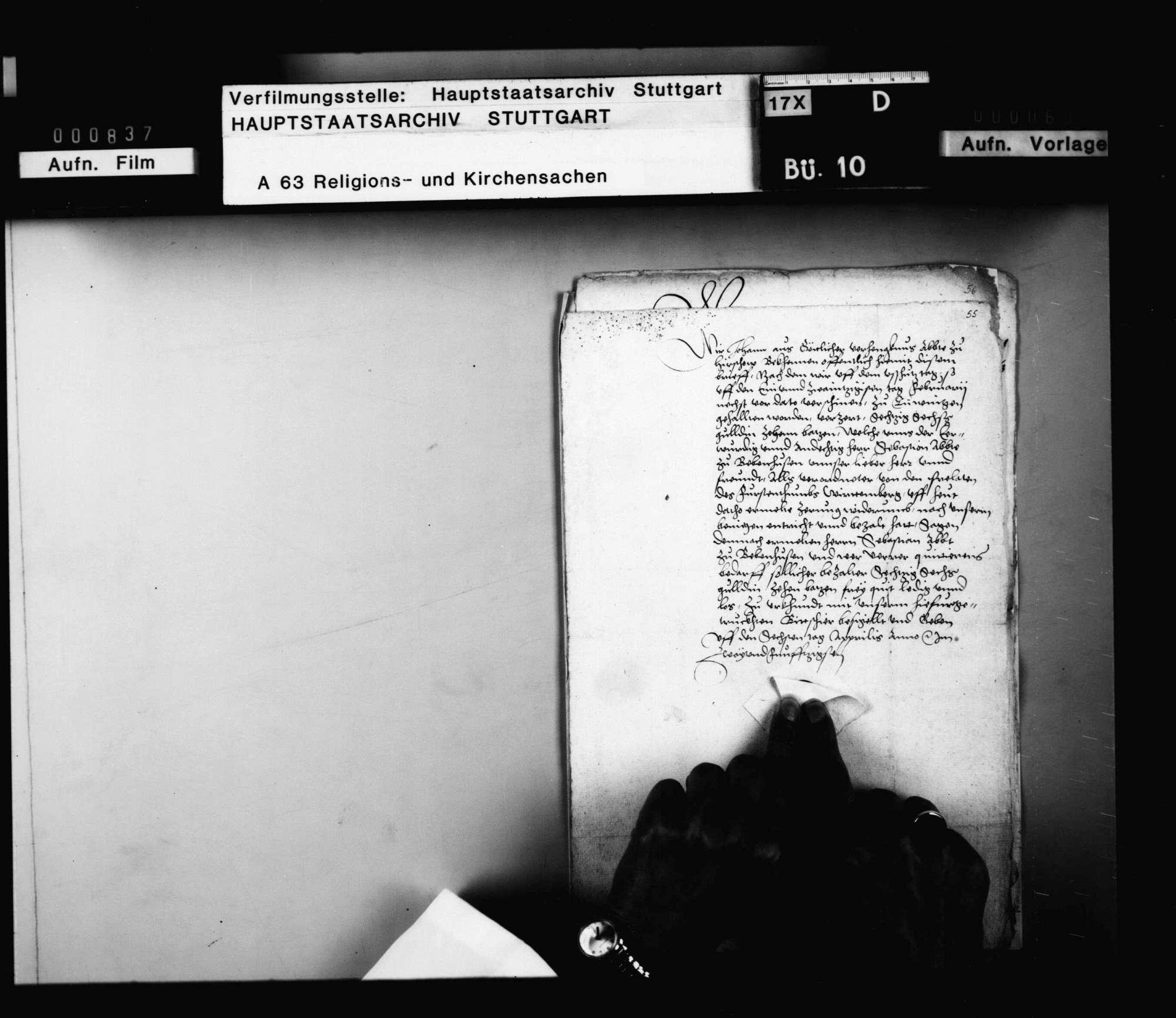Quittungen der Äbte von Hirsau und Murrhardt über Zehrungsgelder beim Ausschusstag in Tübingen, ausbezahlt von Abt Sebastian Lutz von Bebenhausen als Verordneter der Prälaten des Fürstentums., Bild 2