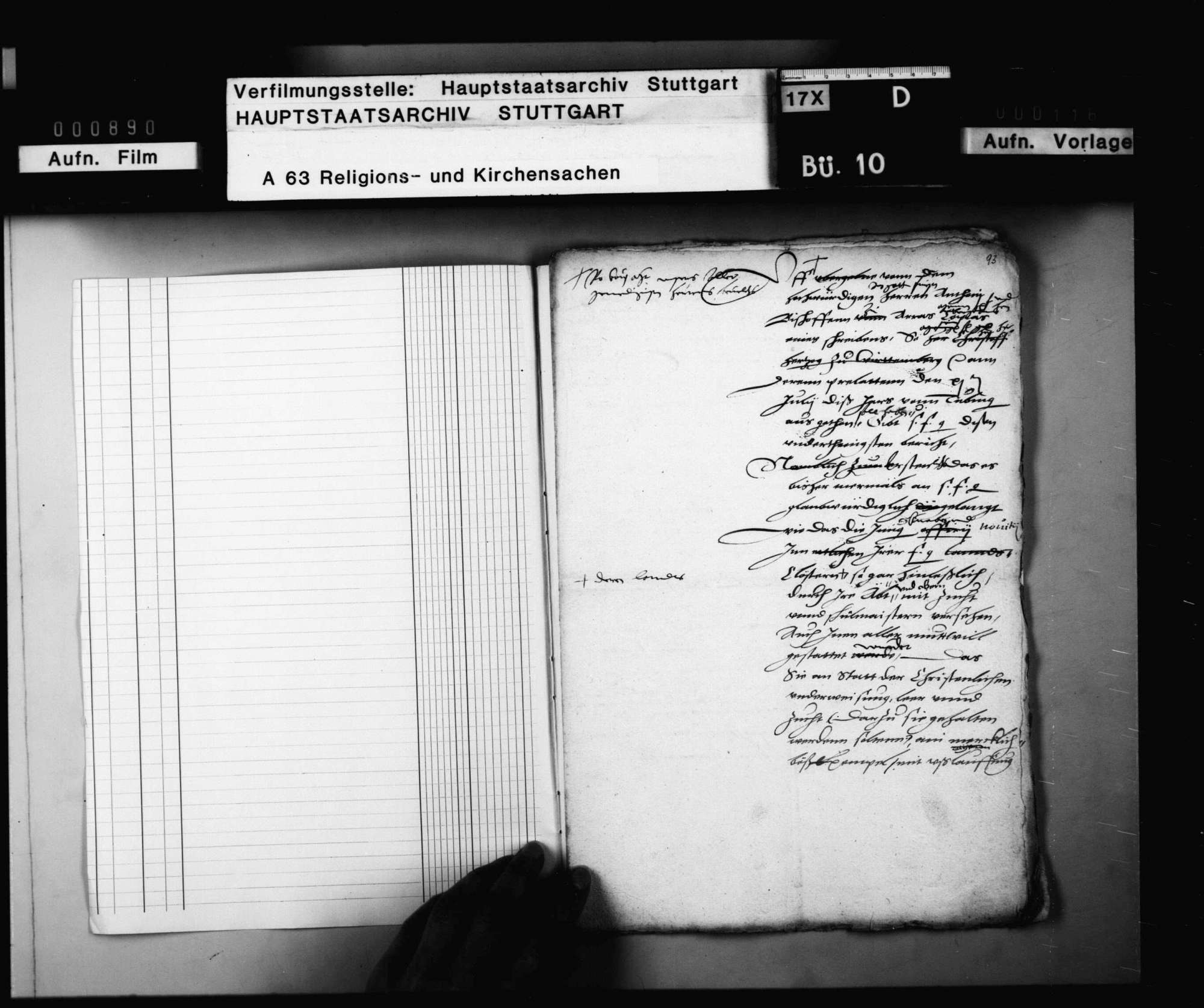 Konzept eines Berichts Herzog Christophs an Kaiser Karl V. über die Verwilderung von Mönchen und Klöstern in Württemberg., Bild 2