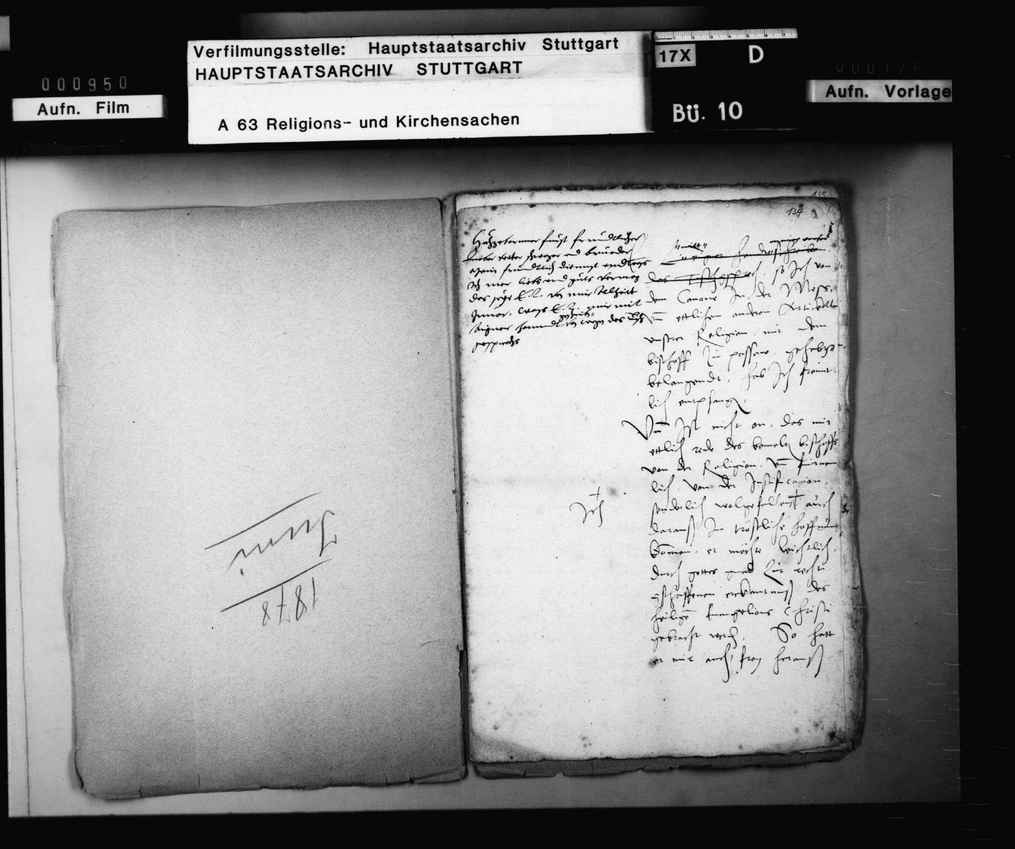 Missiv des Kurfürsten Friedrich von der Pfalz an Herzog Christoph., Bild 2