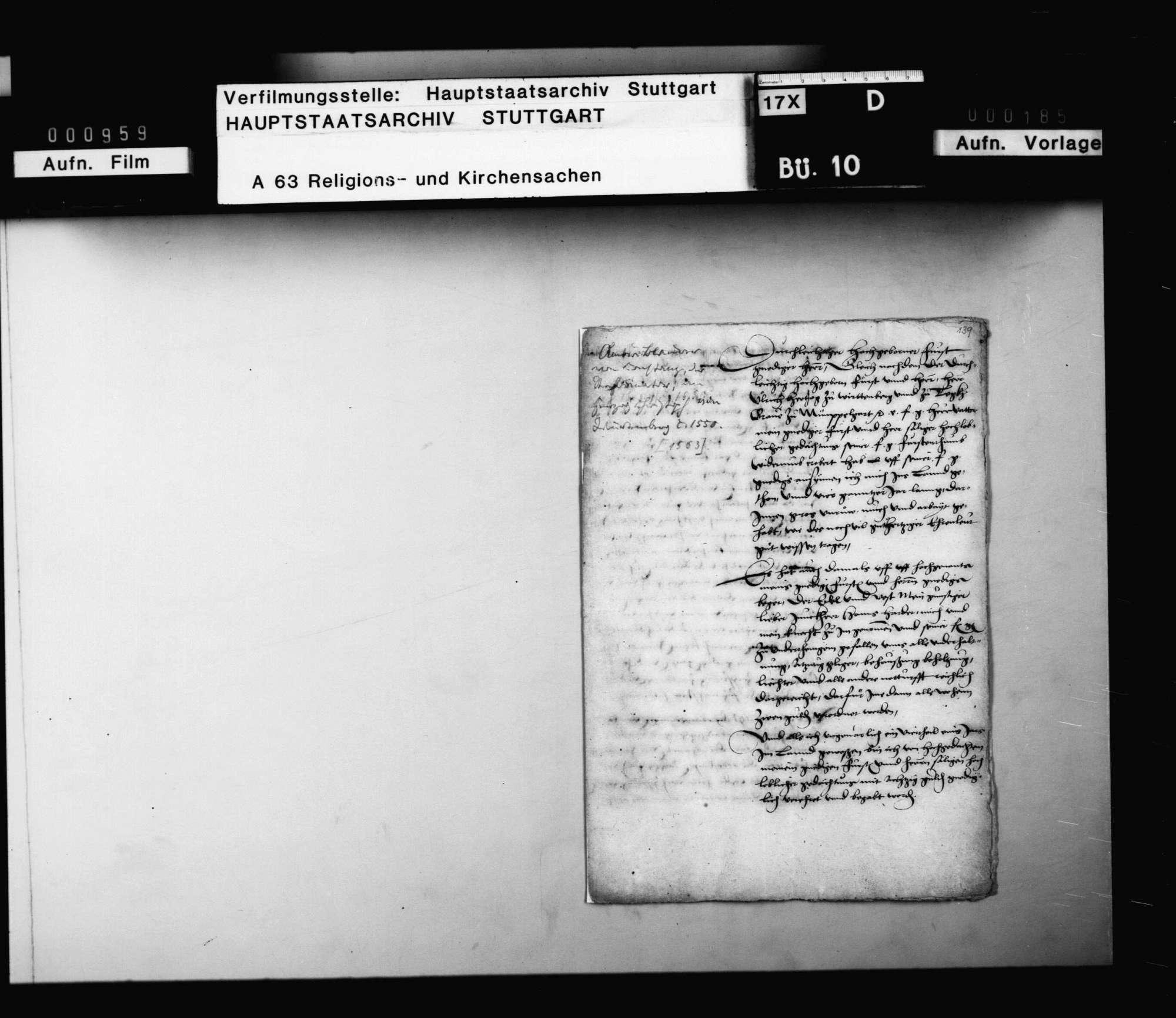 Eingabe Ambrosius Blarers an Herzog Christoph wegen endlicher Entschädigung für die unter Herzog Ulrich geleisteten Dienste., Bild 2