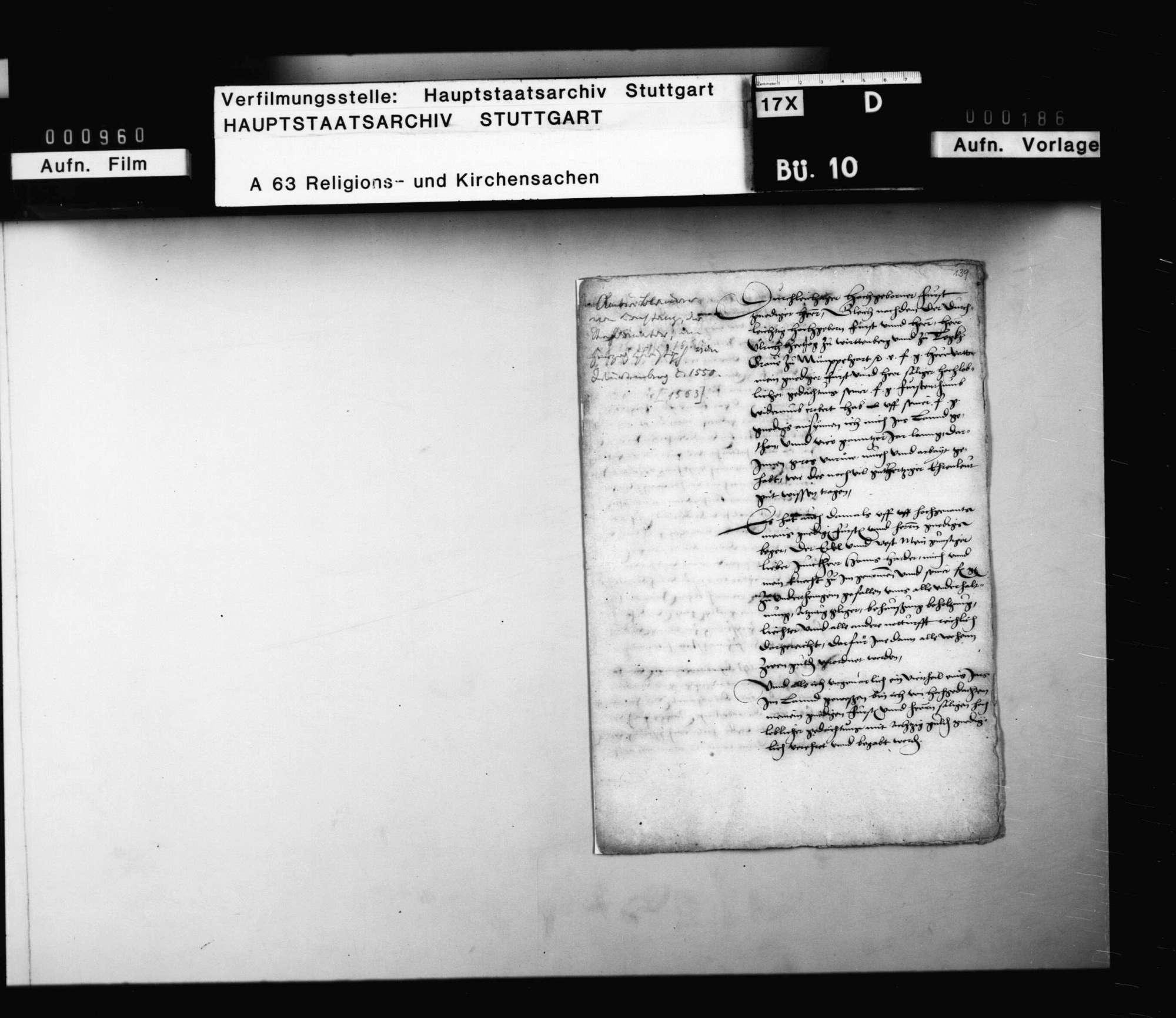 Eingabe Ambrosius Blarers an Herzog Christoph wegen endlicher Entschädigung für die unter Herzog Ulrich geleisteten Dienste., Bild 3