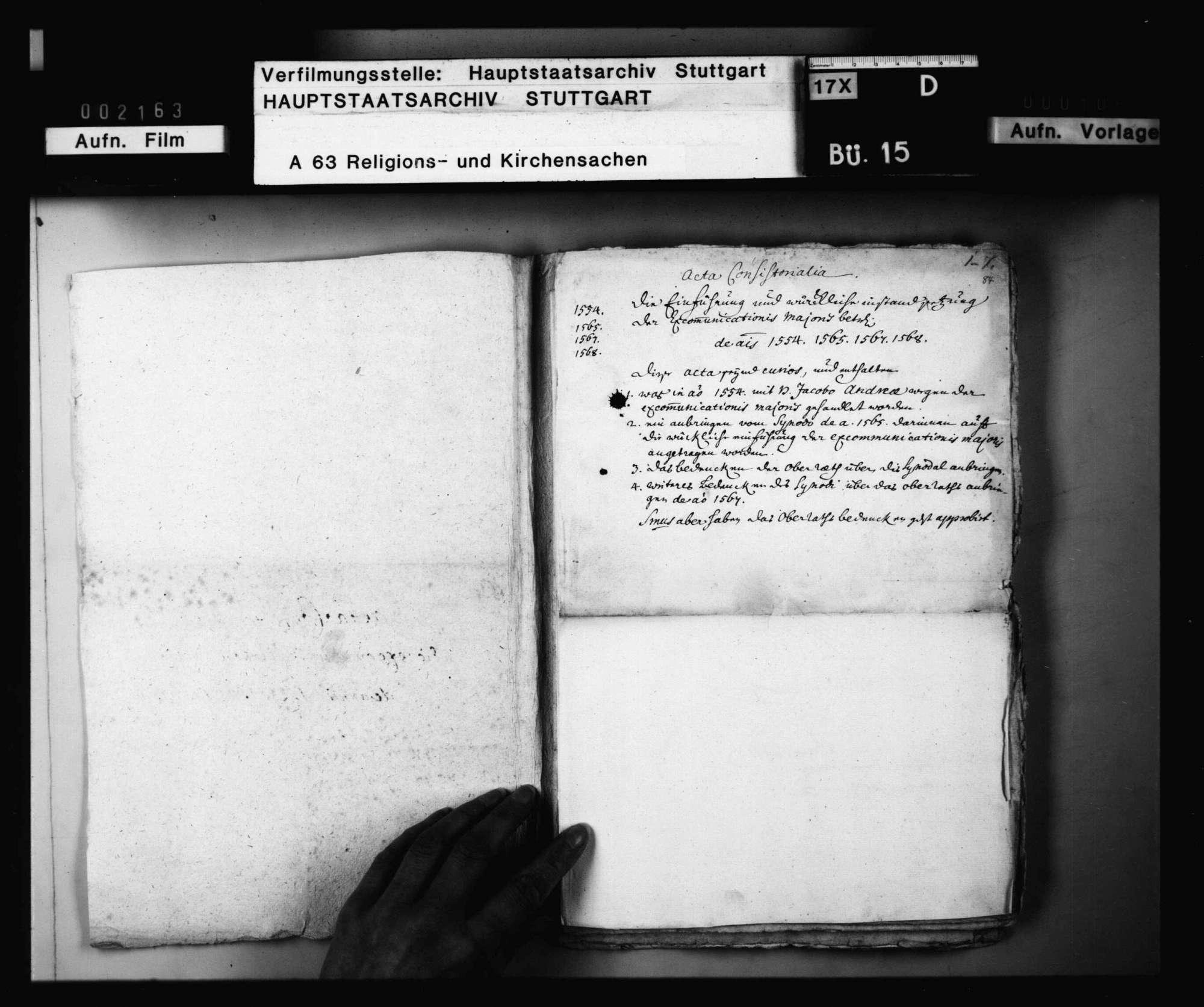 Schriften, die excommunicatio major betreffend, besonders die bezüglichen Verhandlungen mit Jakob Andreä., Bild 2