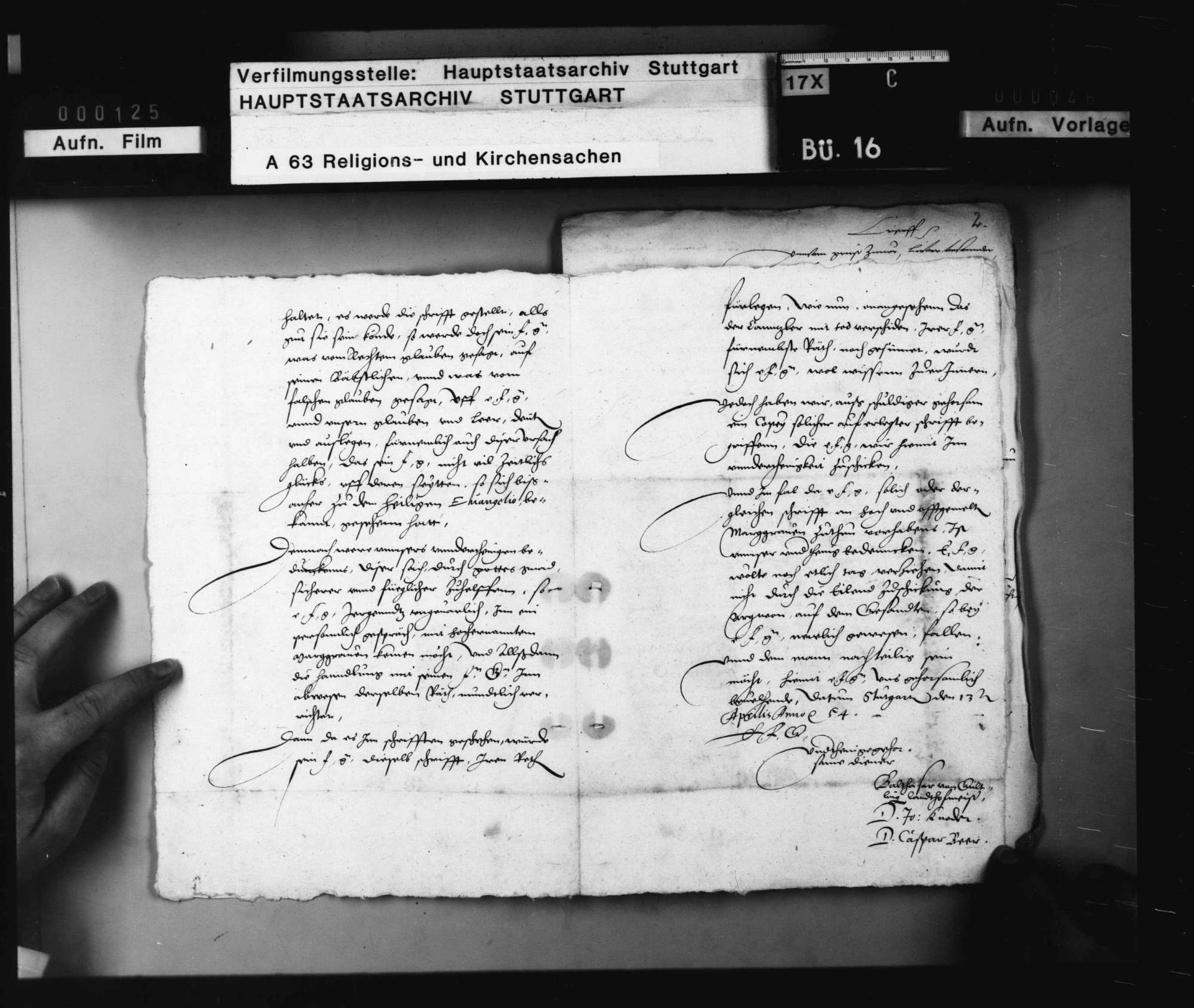 Verhandlungen zwischen Herzog Christoph und Markgraf Karl, betreffend die Reformation in Baden., Bild 3