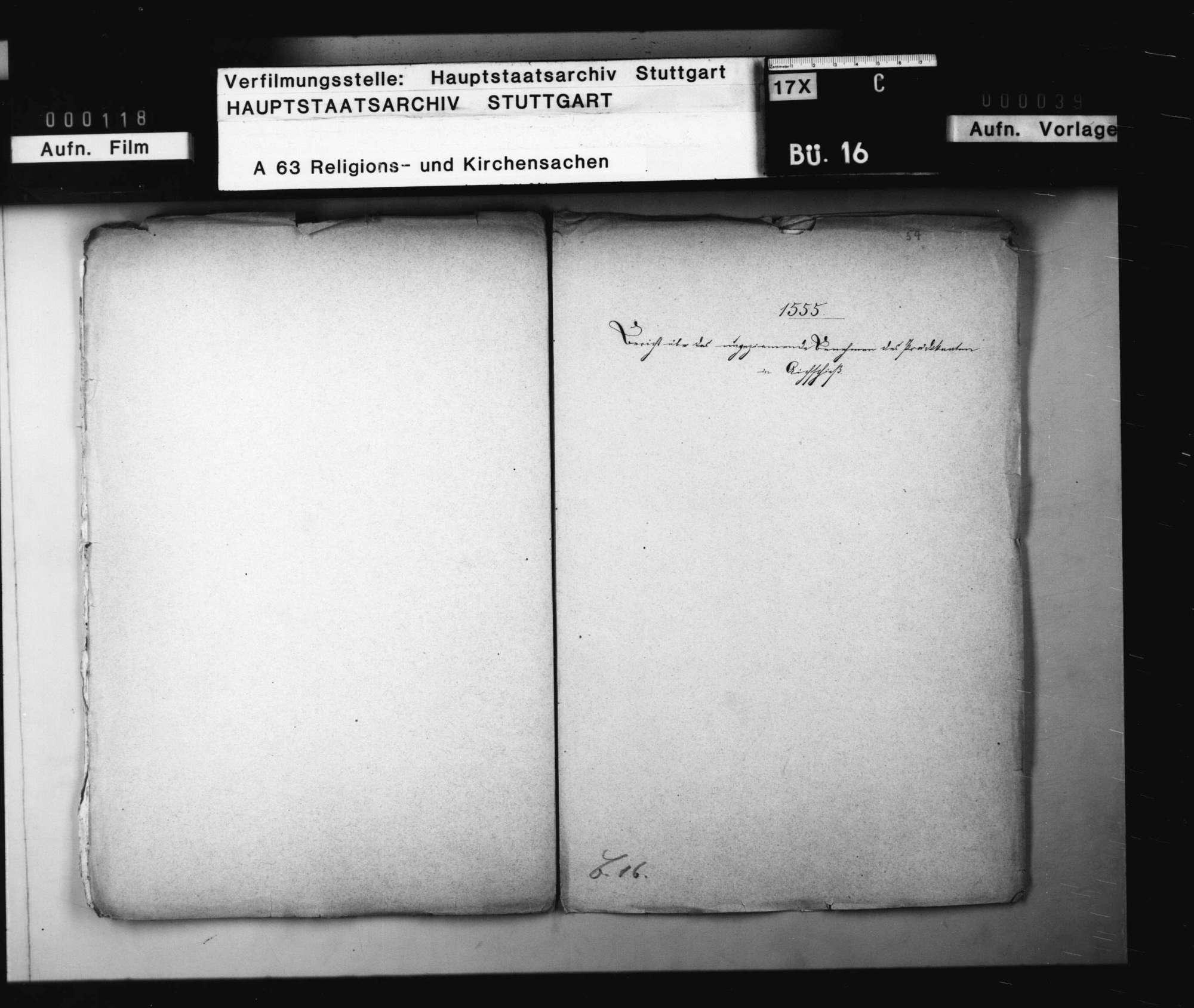 Bericht des Kellers von Schorndorf über den Prediger von Aichschieß, der sich auf der Kanzel ärgerlich betragen., Bild 1