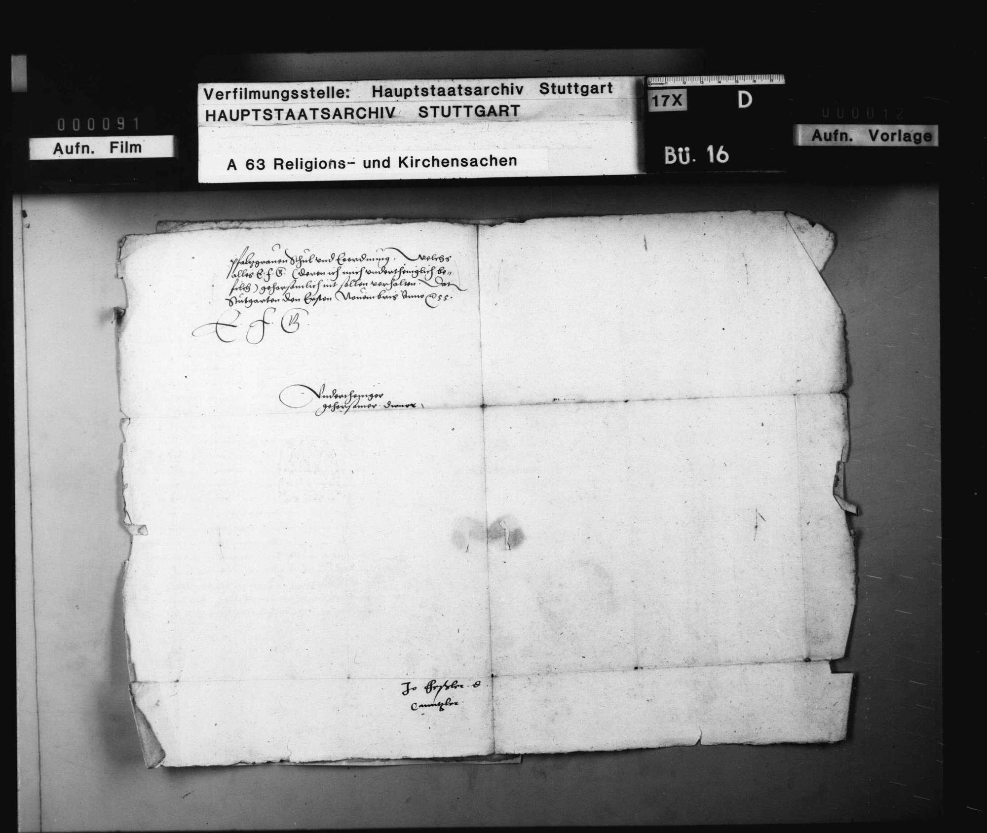 Bericht des Kanzler Feßler betreffend die ungedruckten verschiedenen Einzelordnungen (über 250 Blätter z.B. im Amt Bietigheim) in Kirchensachen., Bild 2