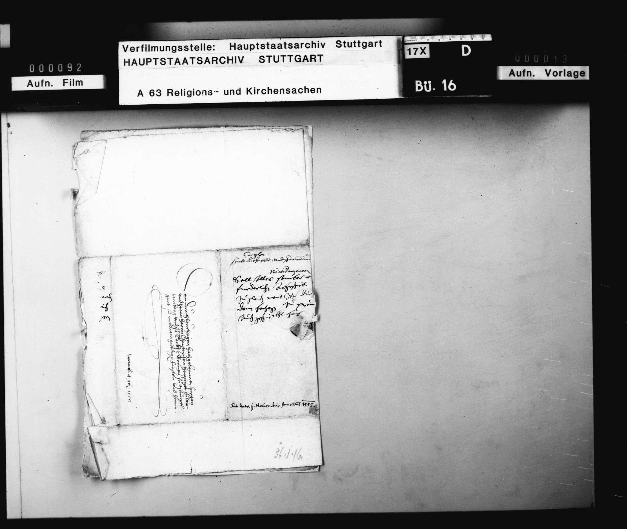 Bericht des Kanzler Feßler betreffend die ungedruckten verschiedenen Einzelordnungen (über 250 Blätter z.B. im Amt Bietigheim) in Kirchensachen., Bild 3